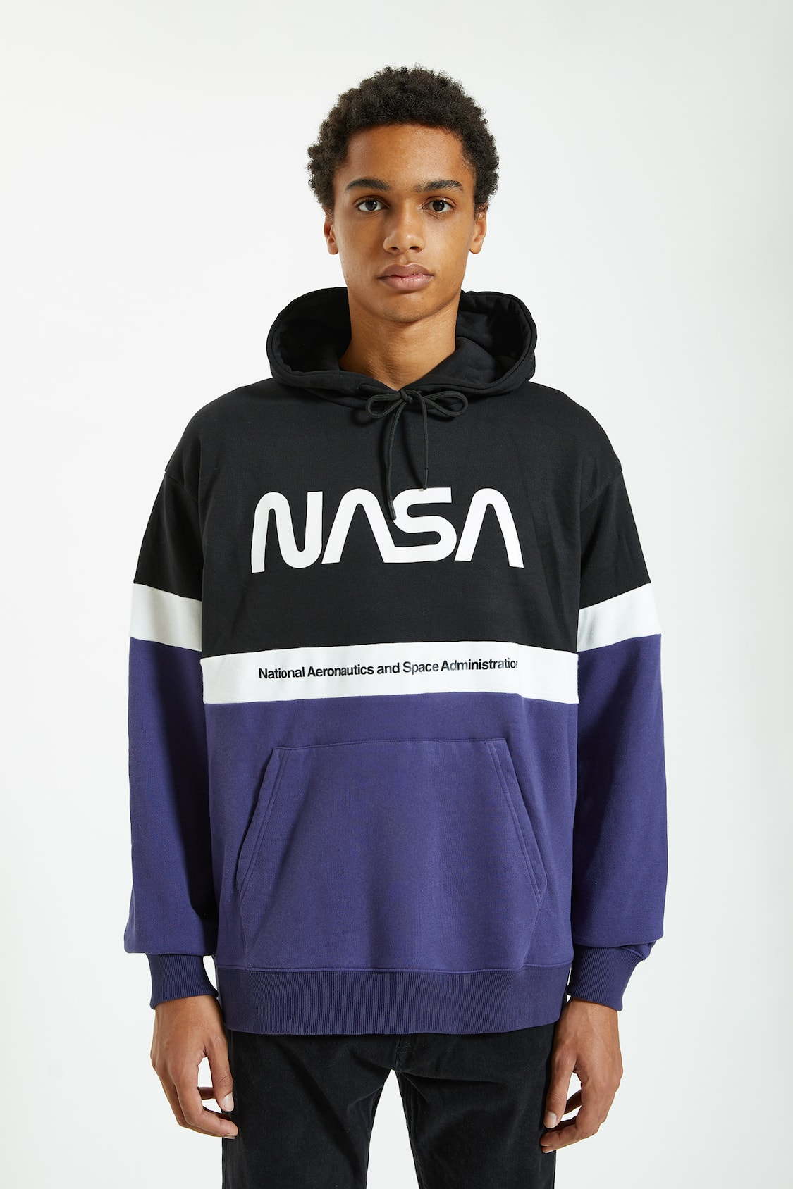 Nasa Hoodie With Pouch Pocket Pull Bear