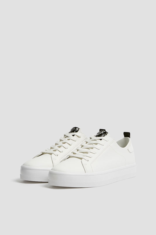 Trainers with animal print detail