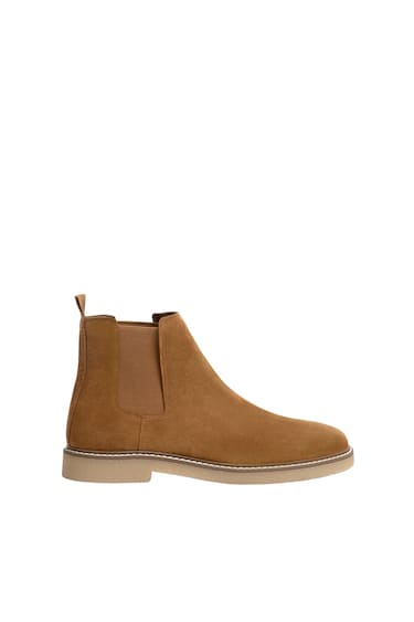 Leather Chelsea Boots Pull Bear