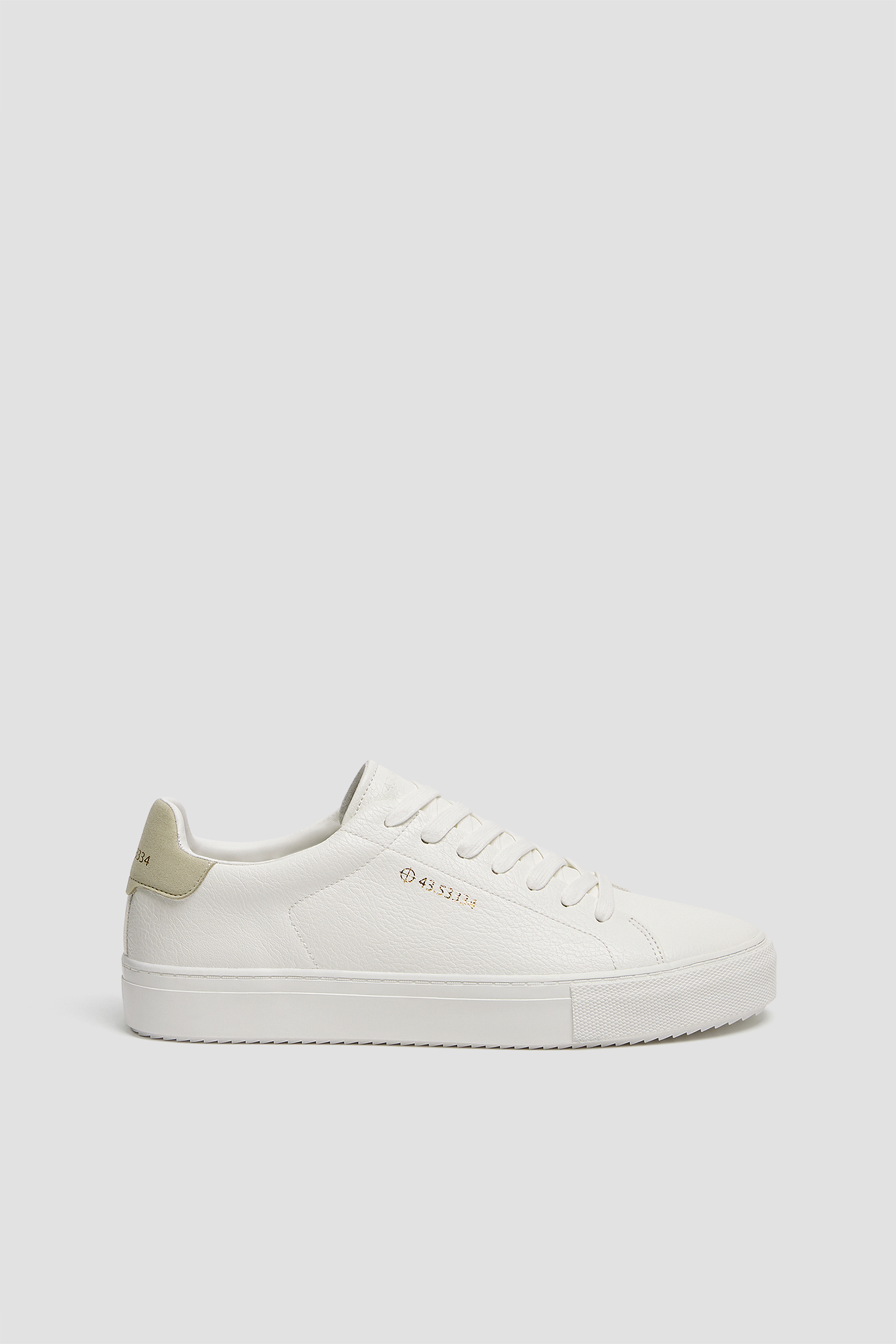 White trainers with coordinates detail