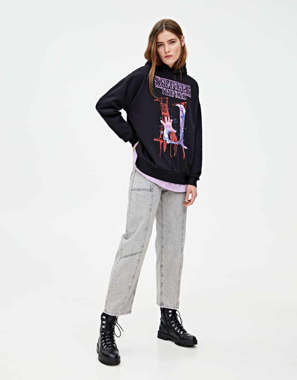 Stranger Things 3 Eleven Hoodie by Pull & Bear