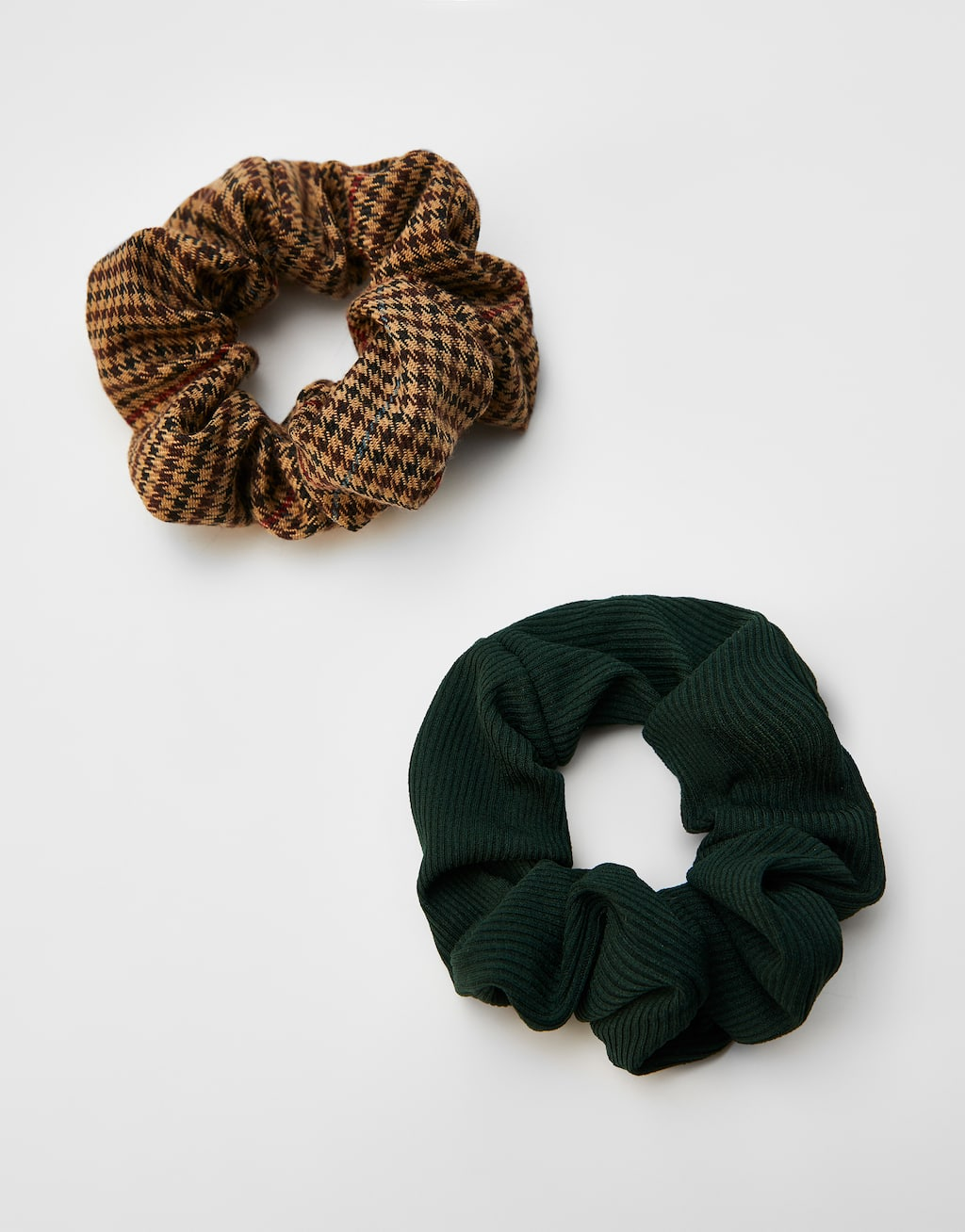 Pack Of 2 Check Print Scrunchies by Pull & Bear