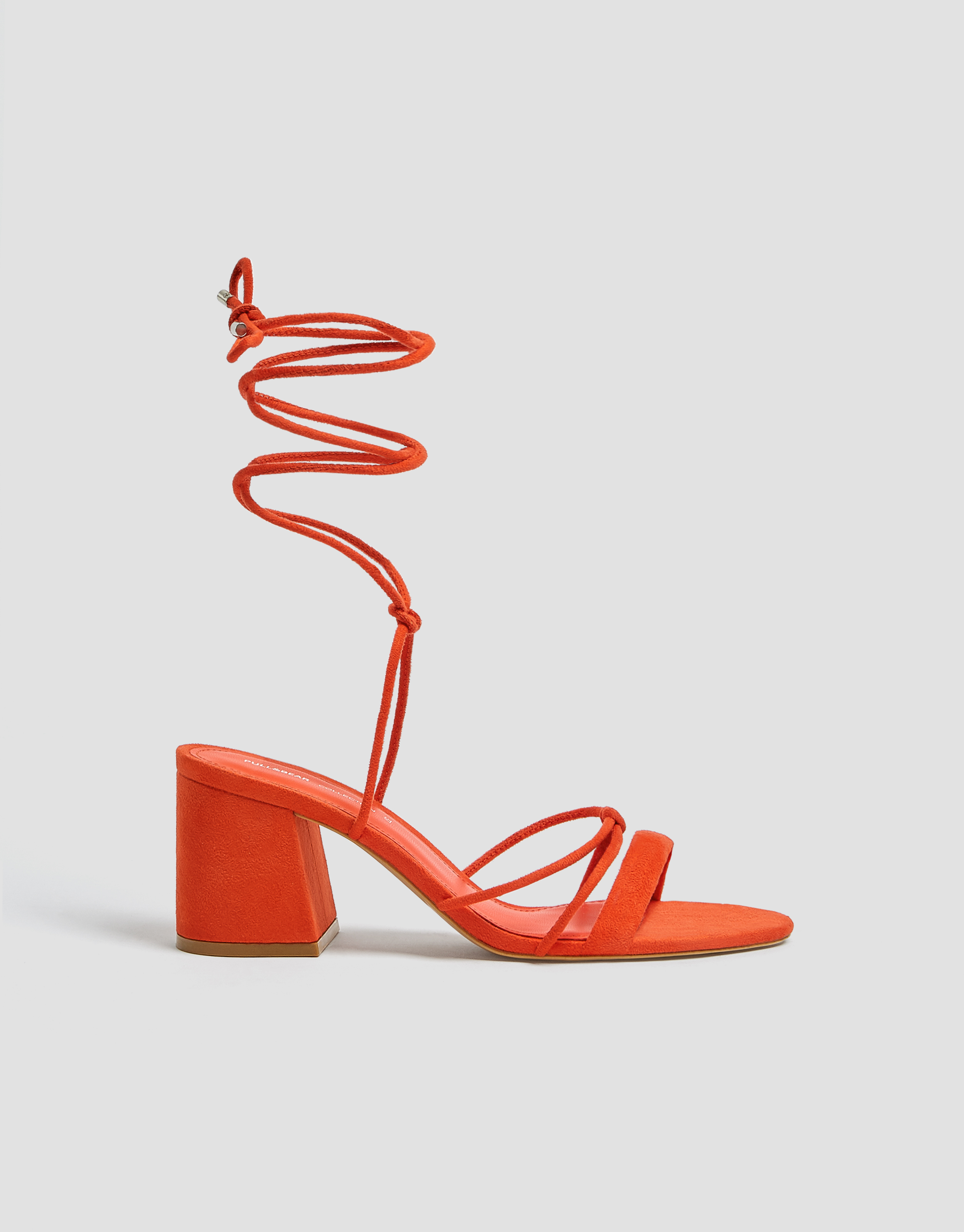 Coral strappy sandals - PULL\u0026BEAR