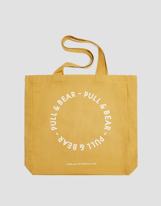 Yellow Tote Bag With Logo Pull Bear