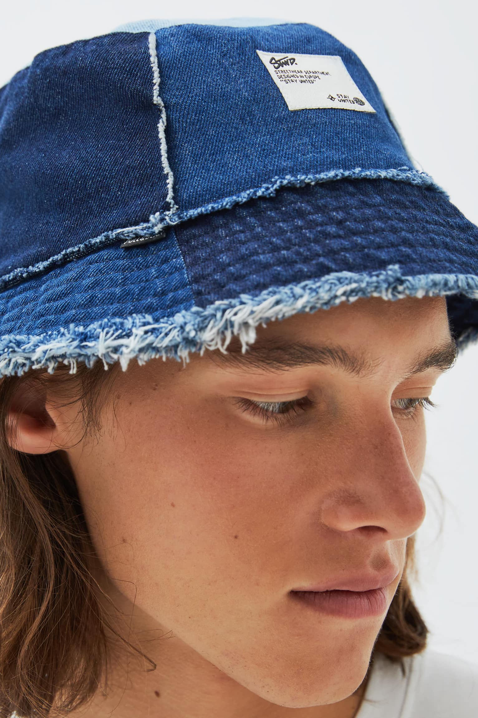 a bucket hat from pull and bear