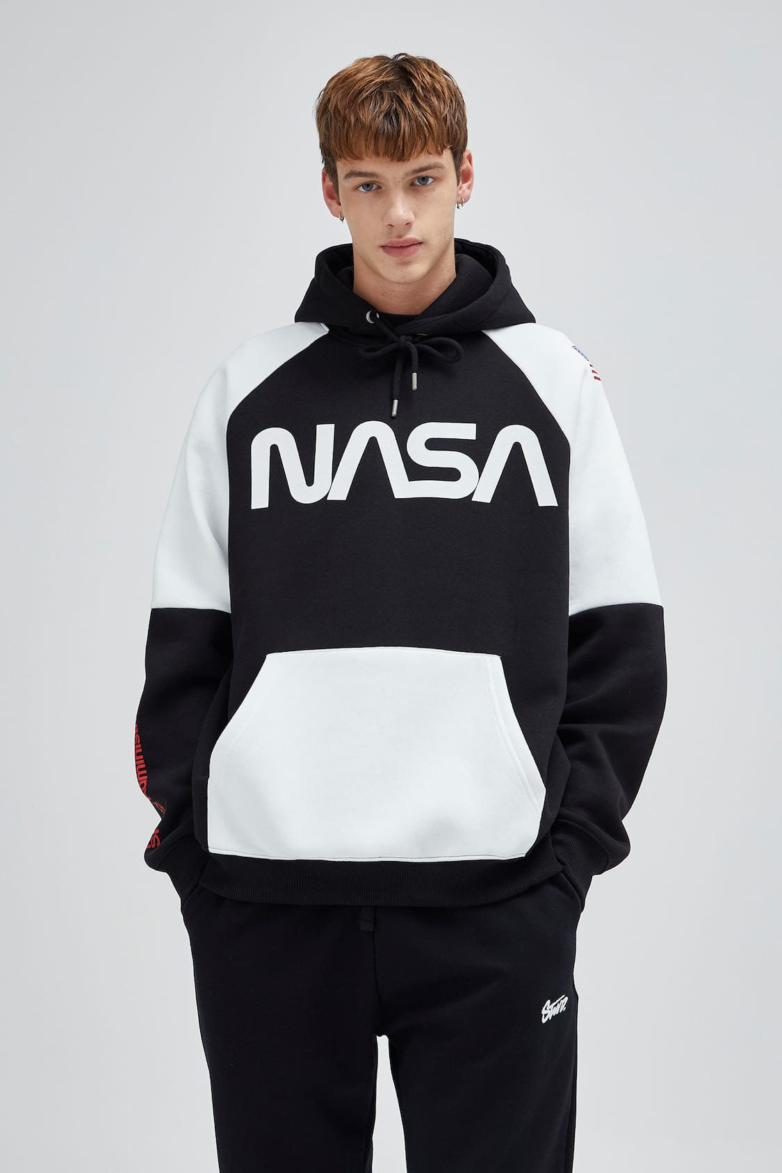 Nasa Hoodie With Contrast Colours Pull Bear
