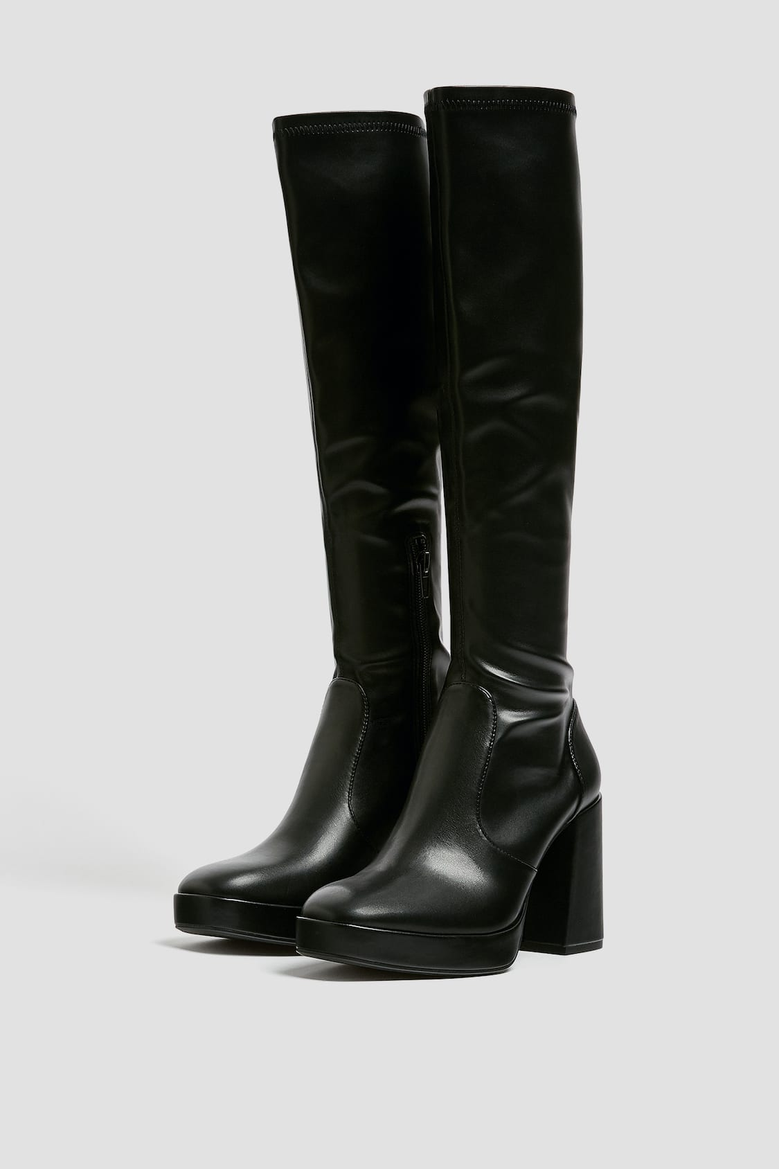 Stretchy Knee High Boots Pull Bear