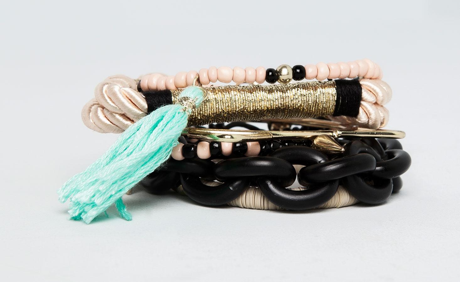 Pull&Bear - mujer - bisutería - pack 6 pulseras variadas - oro - 09996357-I2014