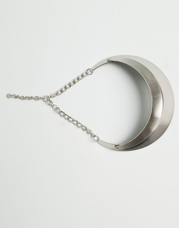 Pull&Bear - mulher - bijuteria - colar peça dupla - prata - 09996380-I2014