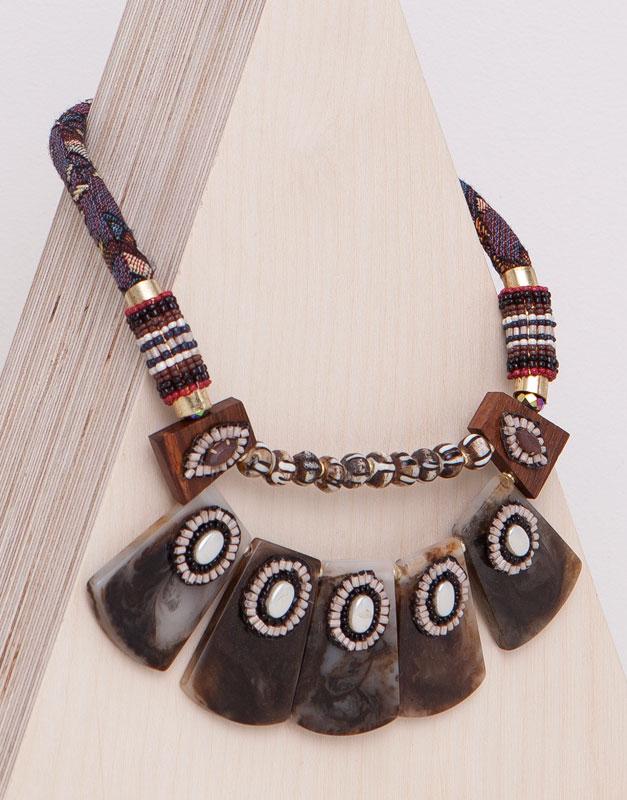 Pull&Bear - mulher - bijuteria - colar peças - torrado - 05993329-I2015