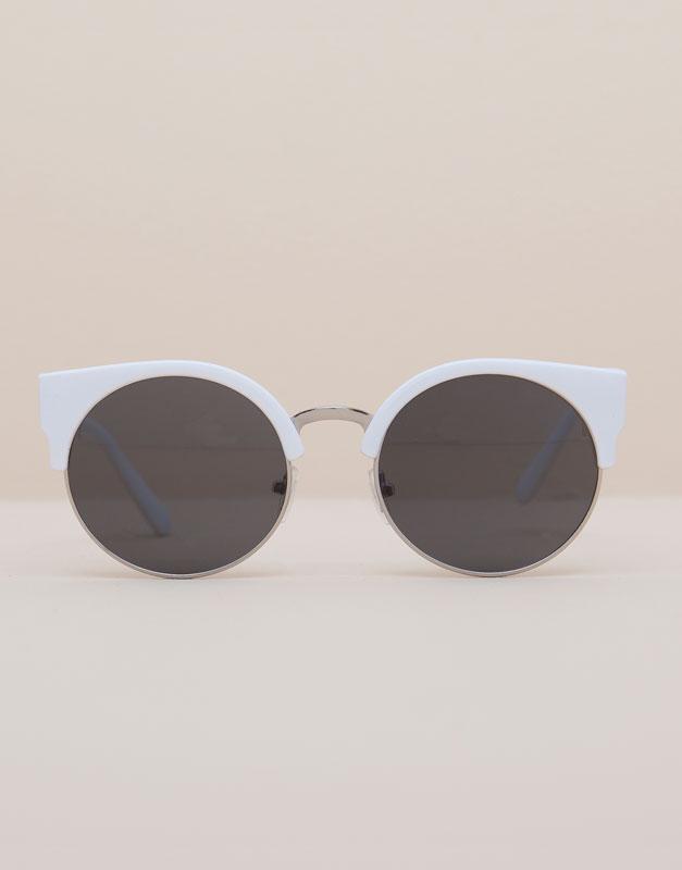 Pull&Bear - woman - accessories - white sunglasses - white - 09899307-I2015