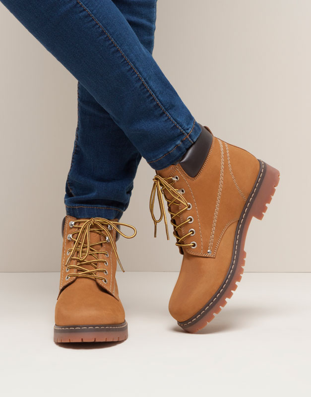 Pull&Bear - footwear - new products - mountain ankle boots - camel - 15185011-I2015