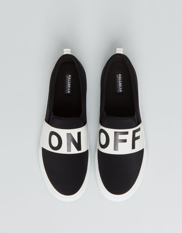 Pull&Bear - footwear - new products - elasticated slip ons - black - 15830011-I2015