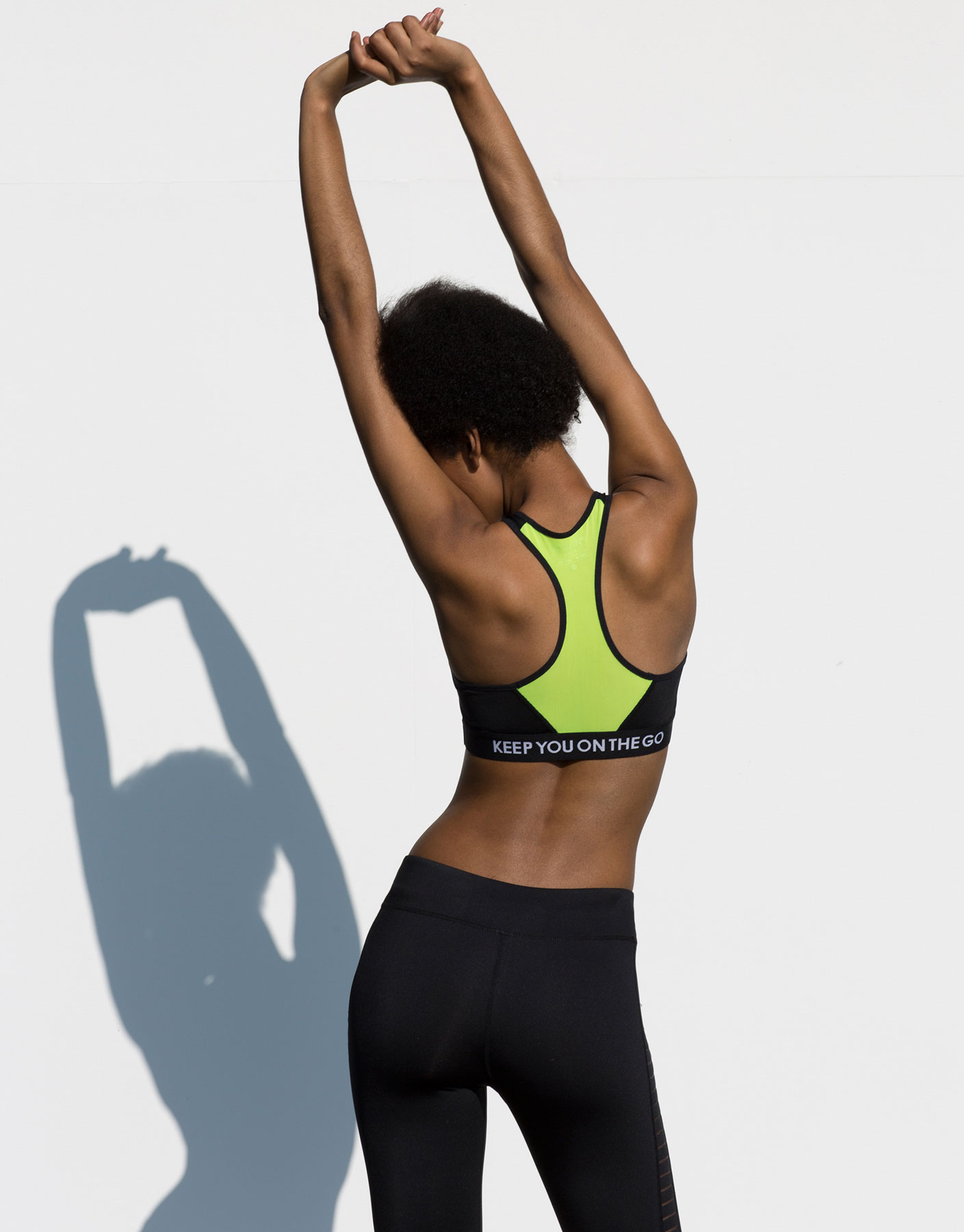 Basic logo gym bra