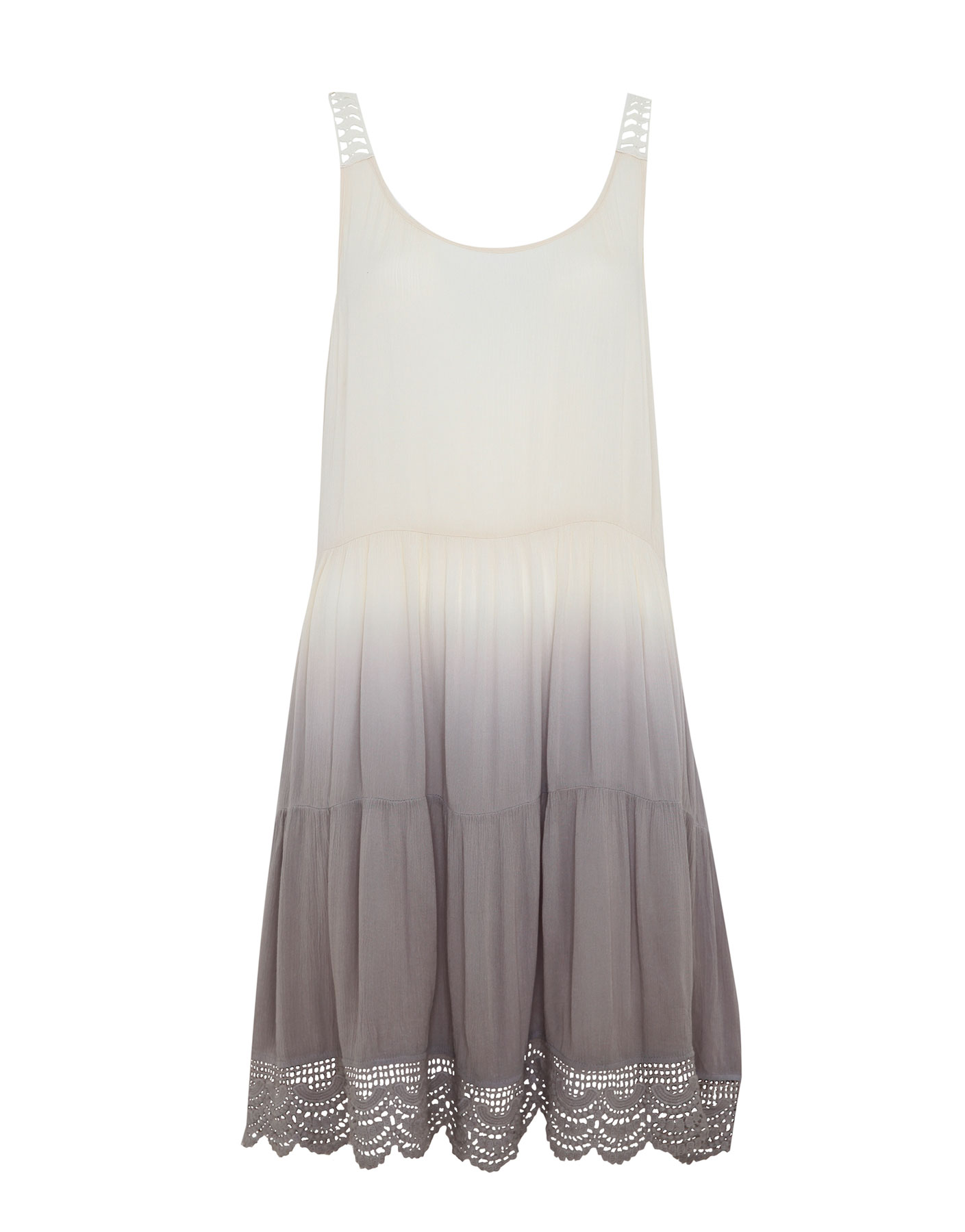 Cieniowana sukienka Pull & Bear PIASKOWY