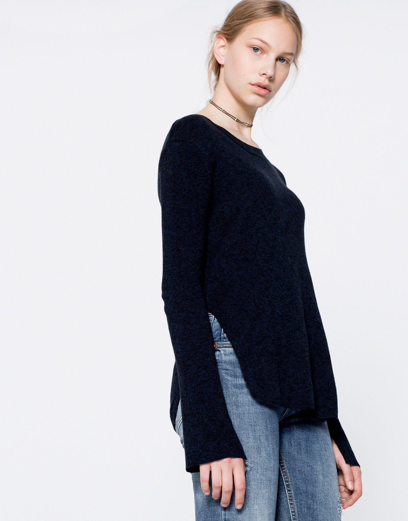 Flared sleeves jumper