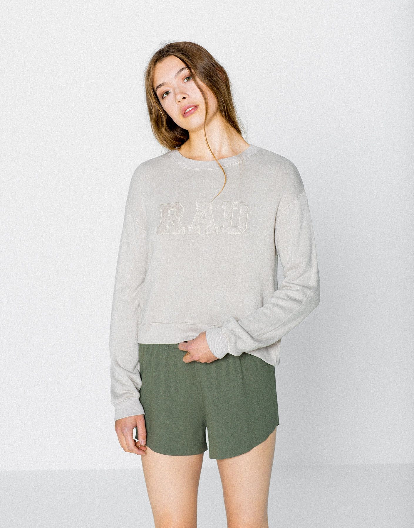 Sweatshirt met rad patch