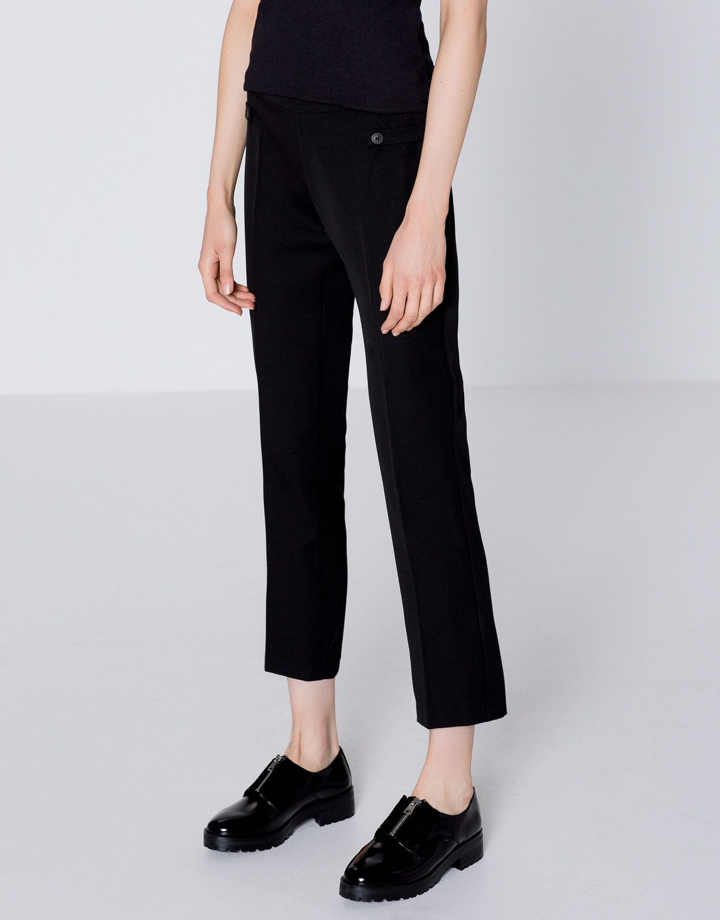 Skinny trousers with rear yoke