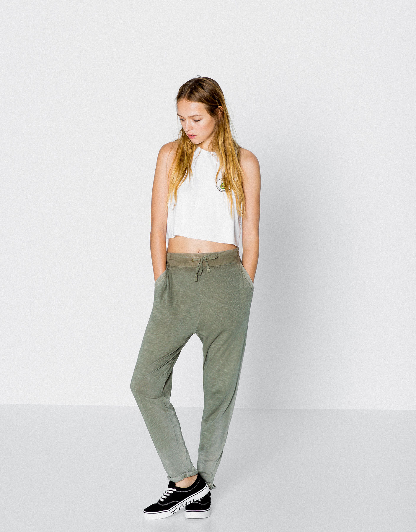 Baggy fit trousers