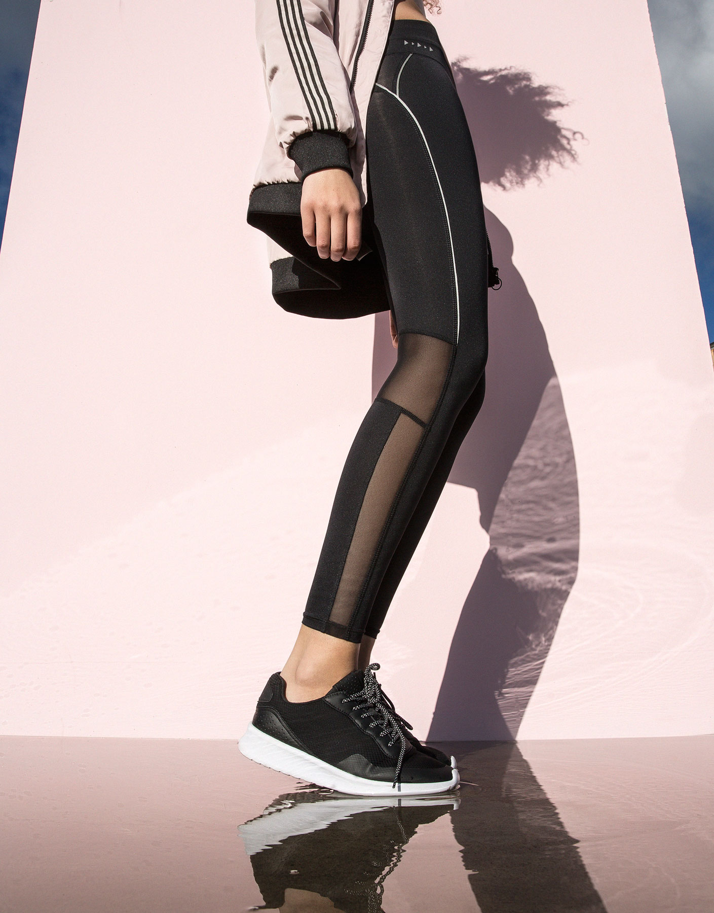 Legging running largo