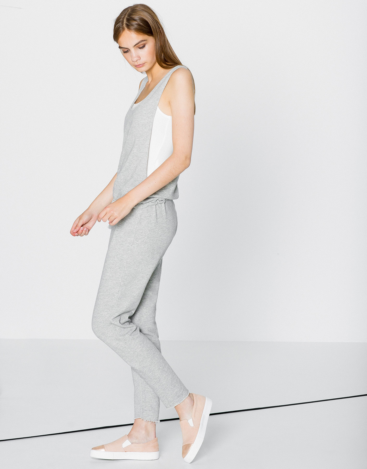 Long plush jumpsuit