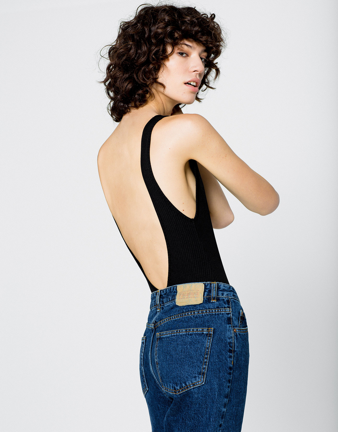 Bodysuit with low cut back
