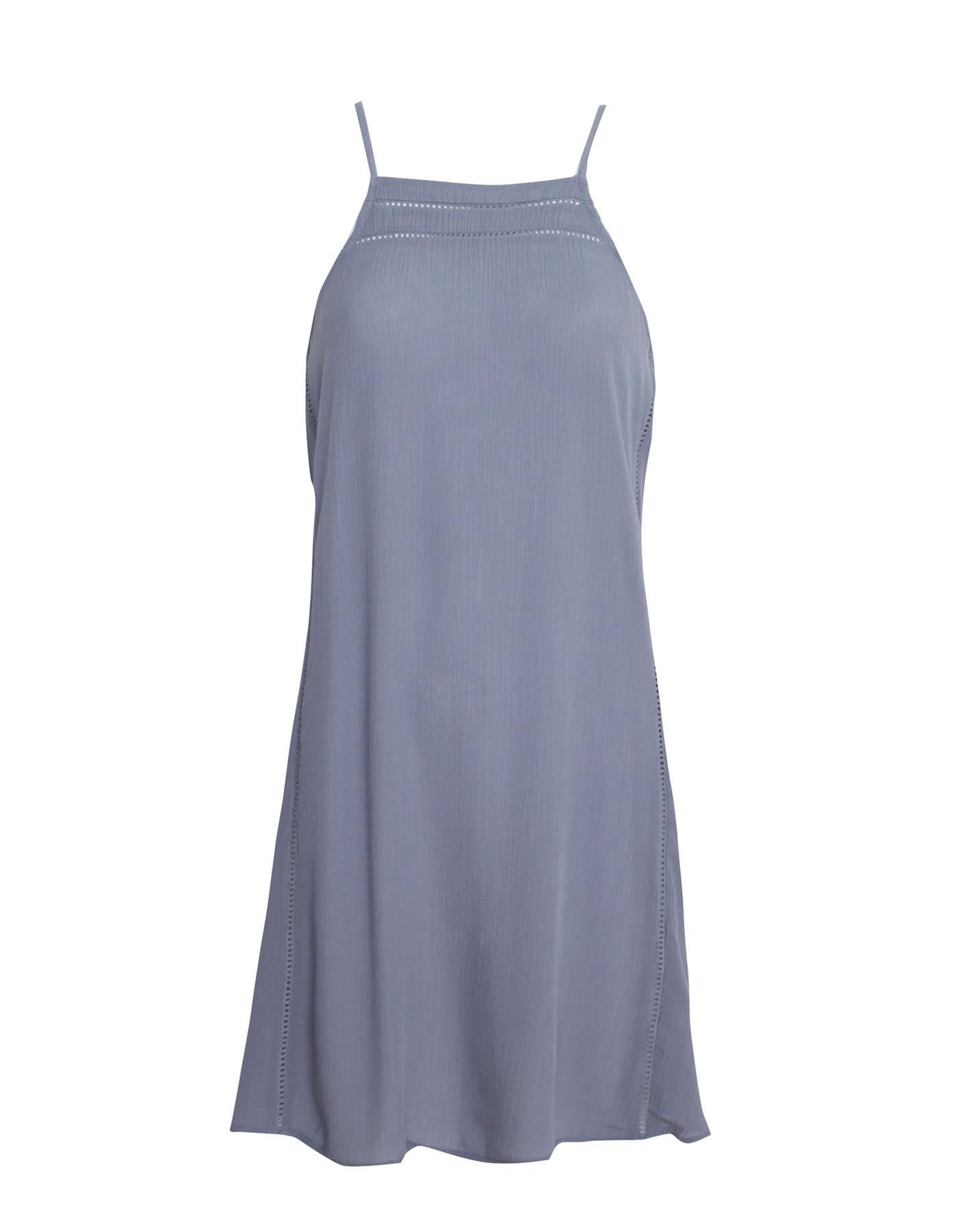 Sukienka z dekoltem halter Pull & Bear JASNONIEBIESKI