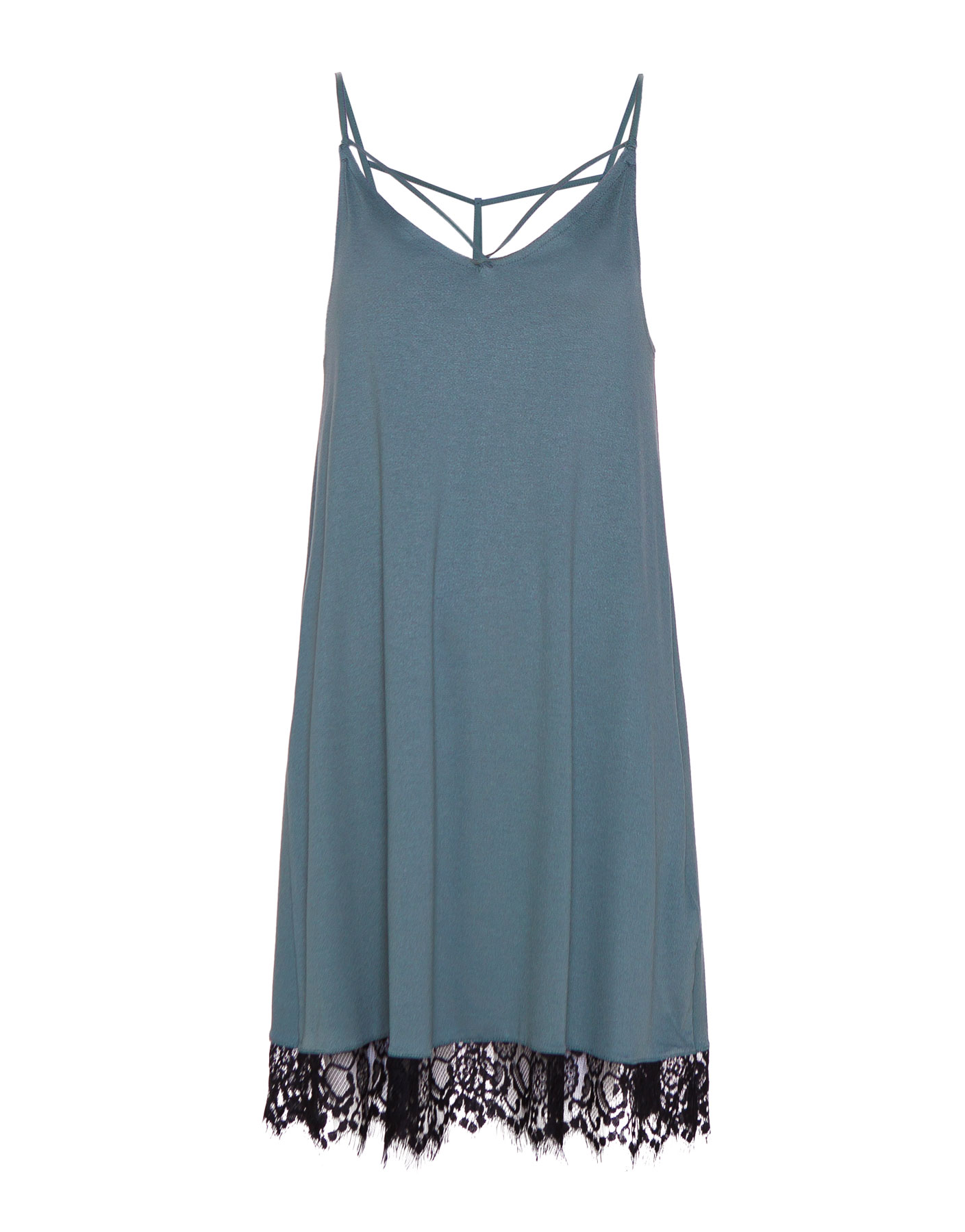 Dress Pull & Bear JASNOZIELONY