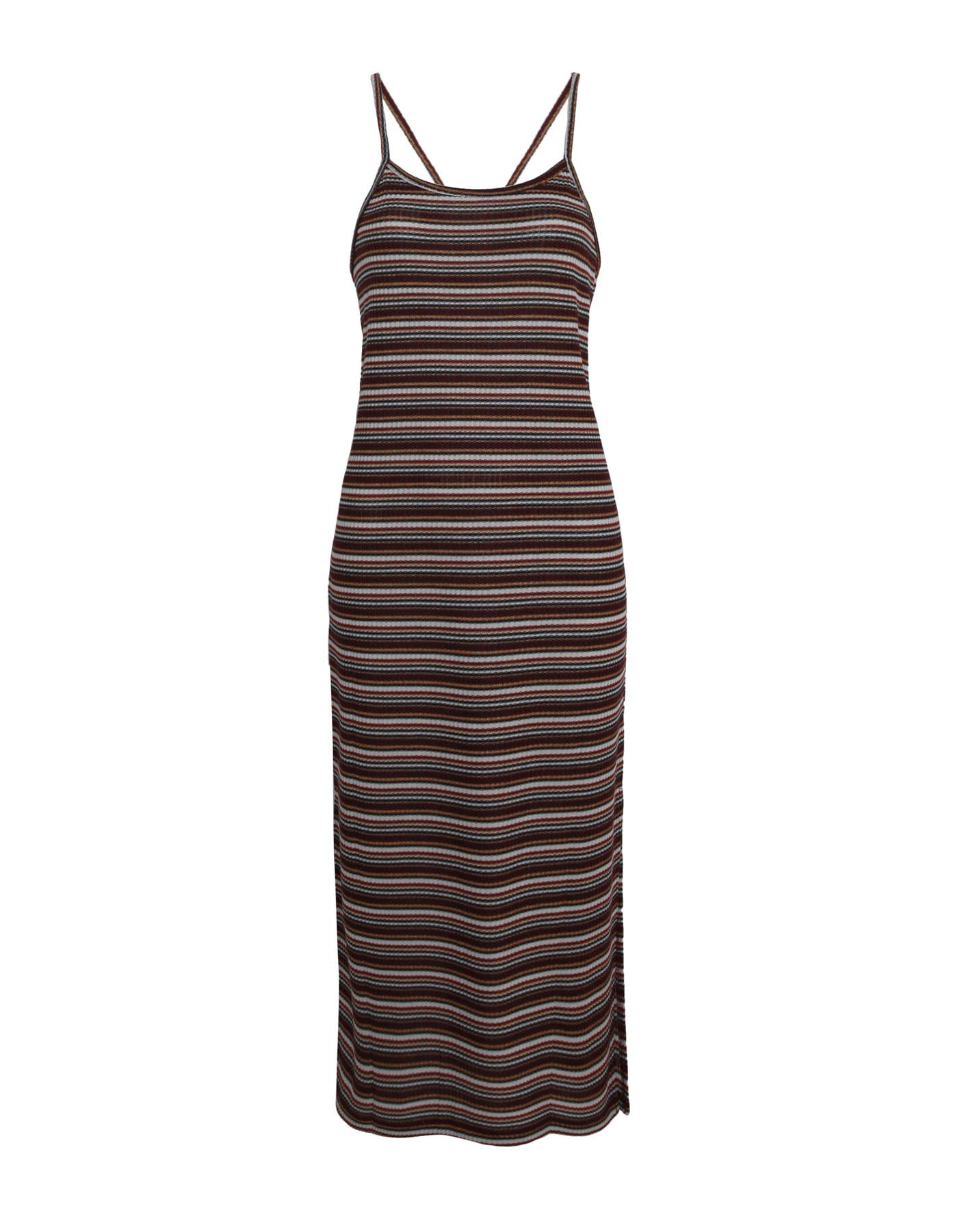 Prążkowana sukienka na cienkich ramiączkach Pull & Bear