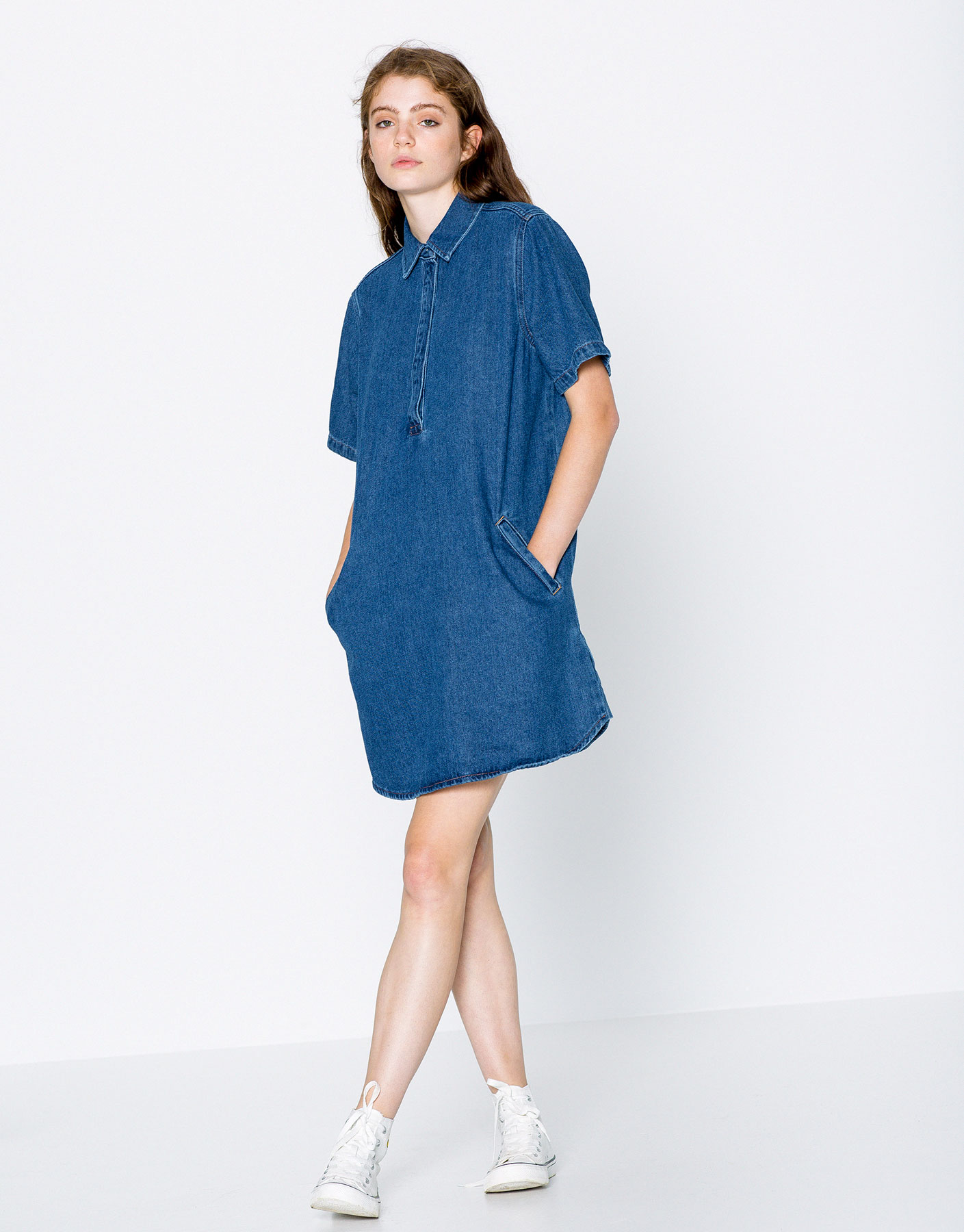 Vestit denim coll camiser