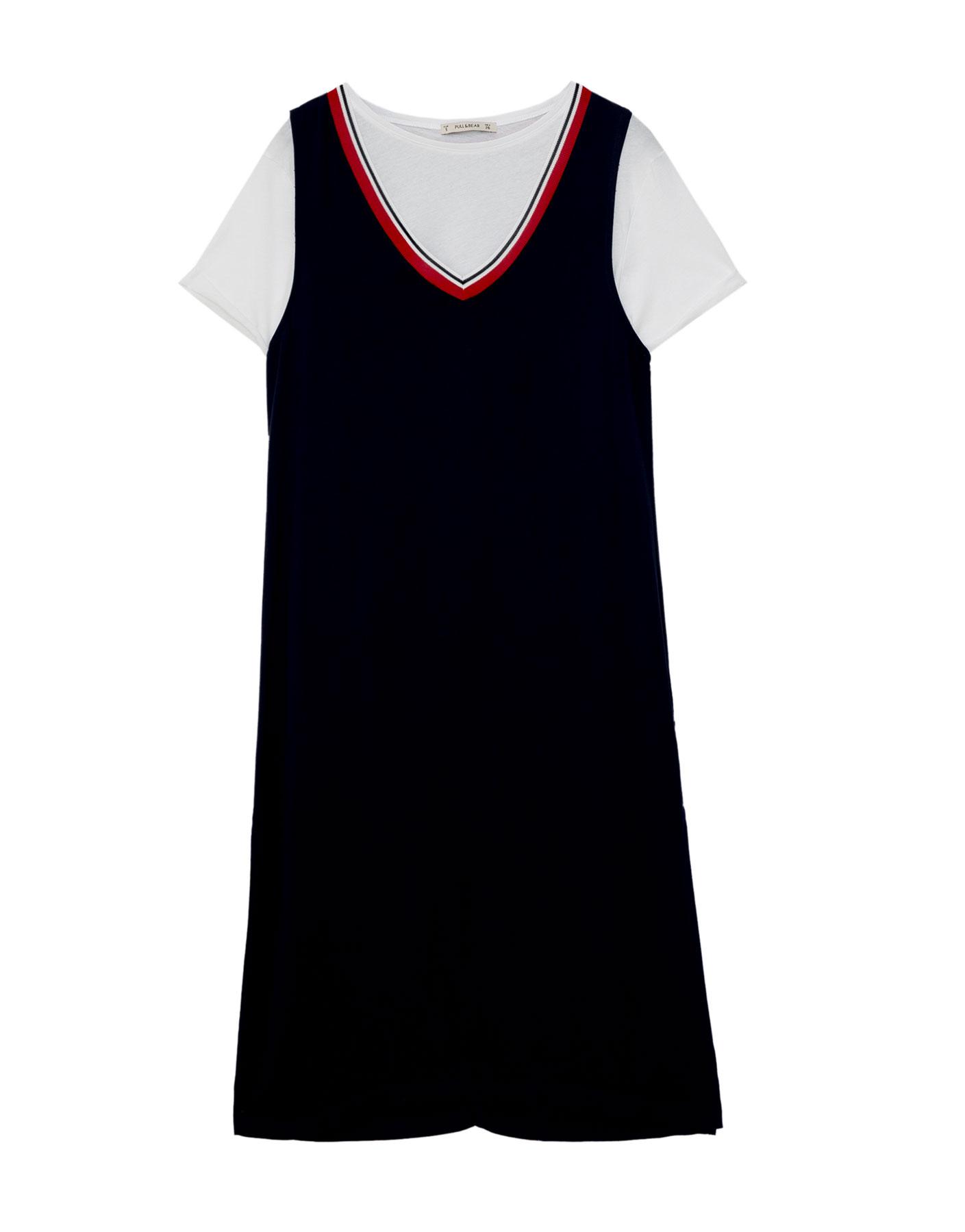 Sukienka sportowa Pull & Bear MORSKI