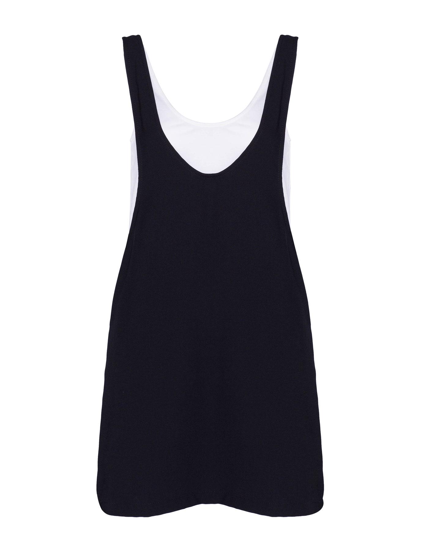 Sukienka bez rękawów z koszulką wewnątrz Pull & Bear CZARNY