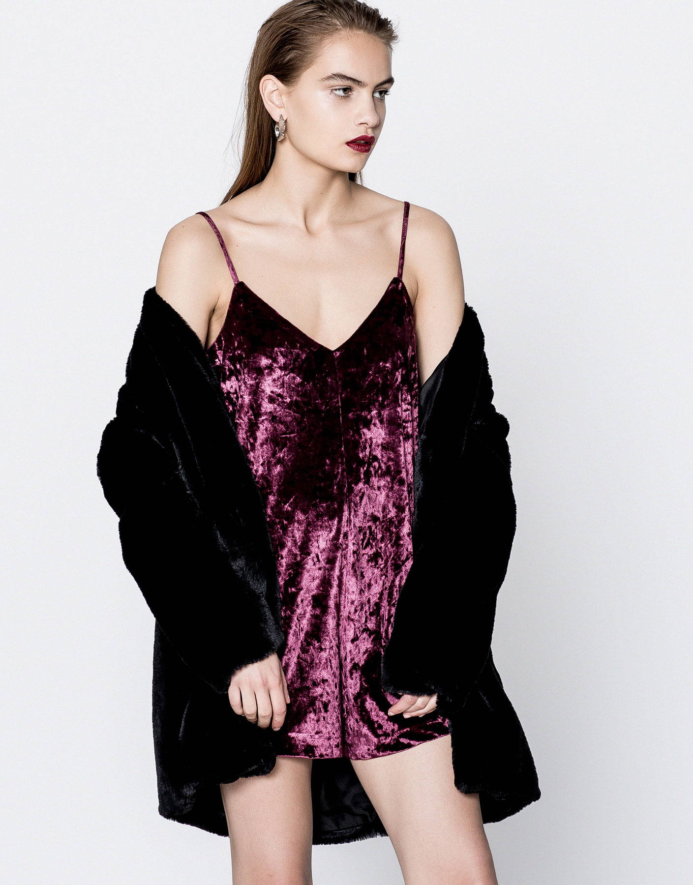 Velvet jumpsuit dress