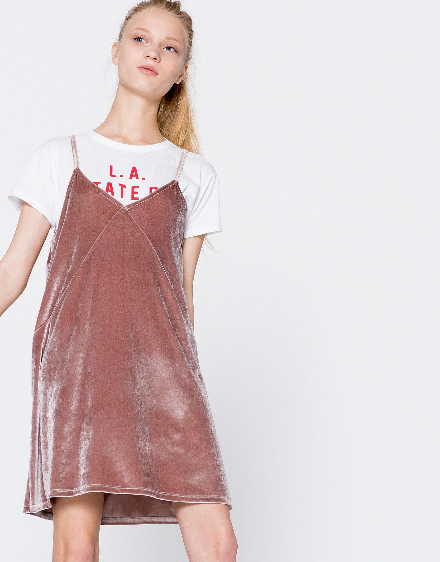 Strappy velvet dress