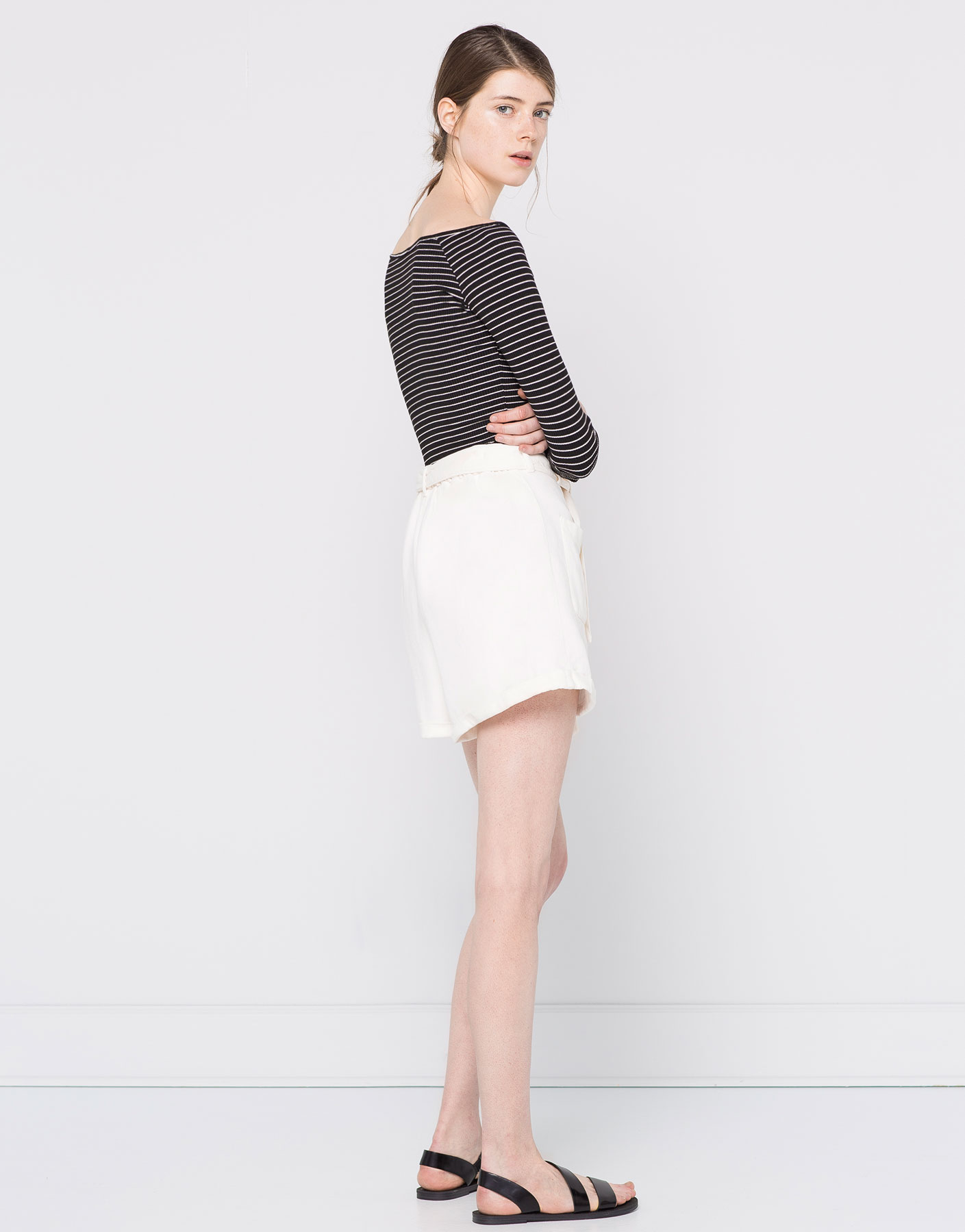 Long-sleeve boatneck sweater