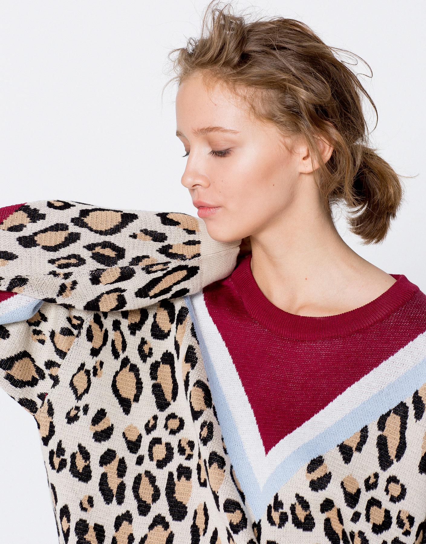 Jersey print leopardo