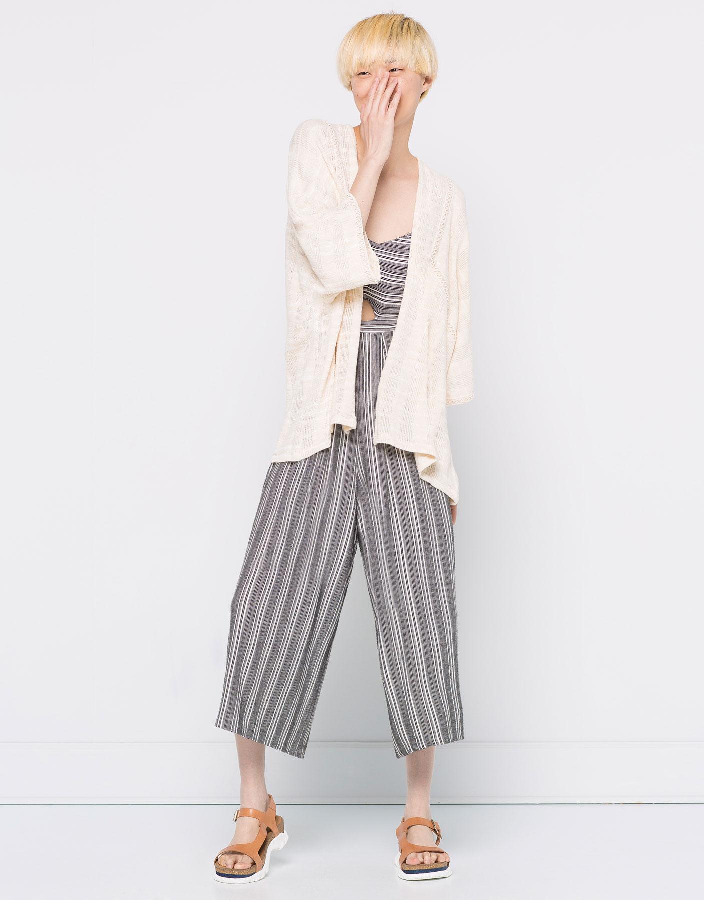 Kimono met kantdetail