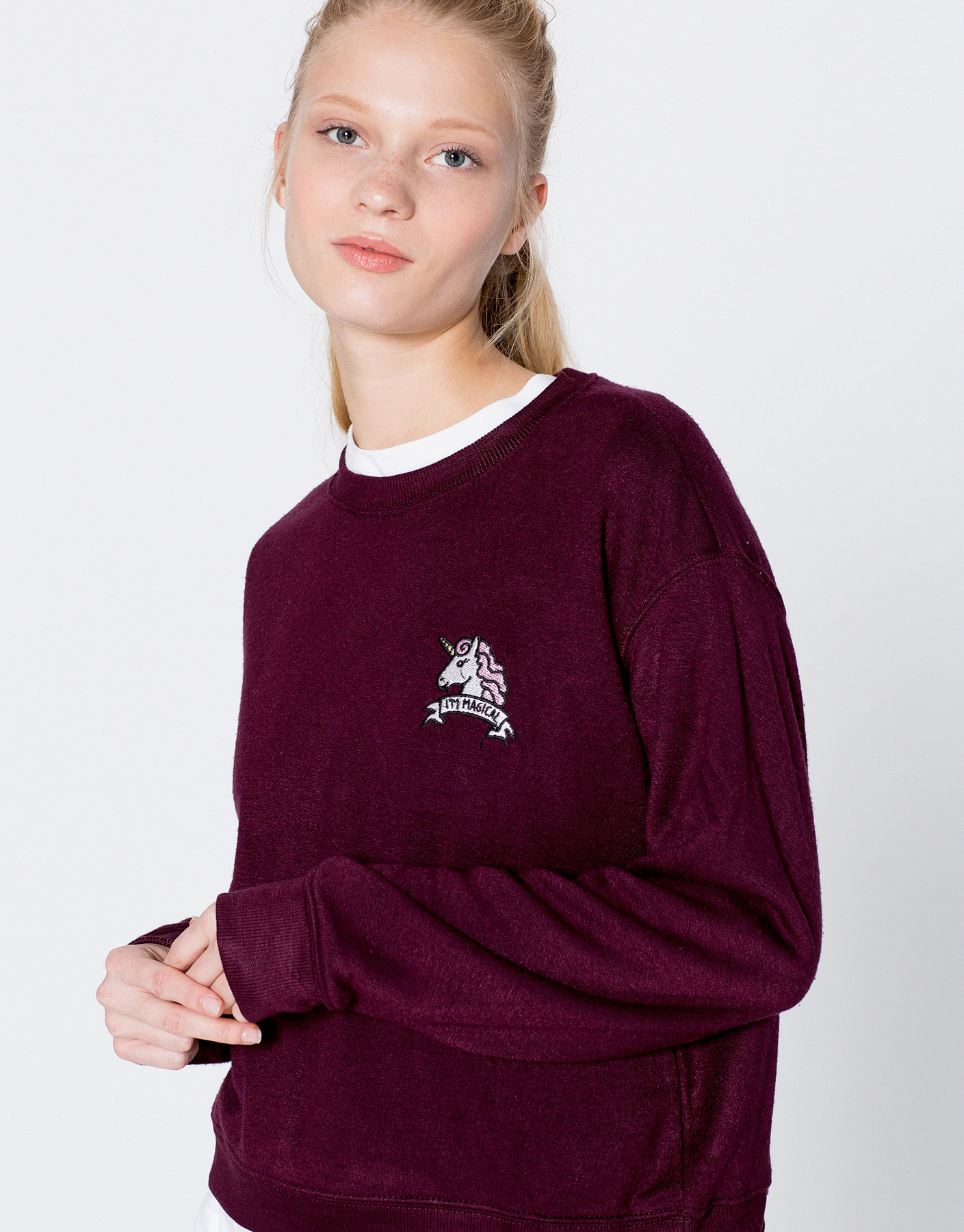 Unicorn patch sweatshirt