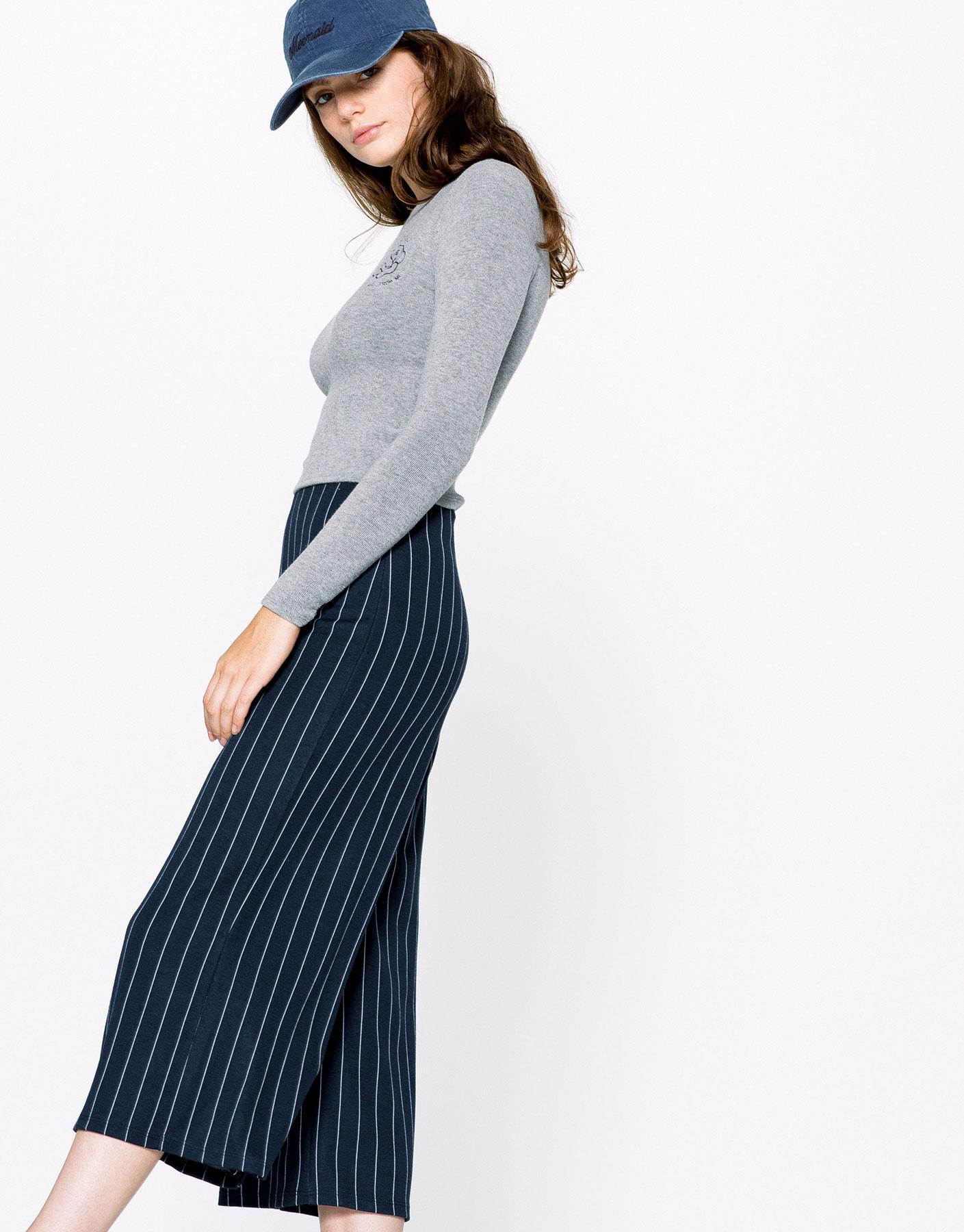Pinstripe culottes
