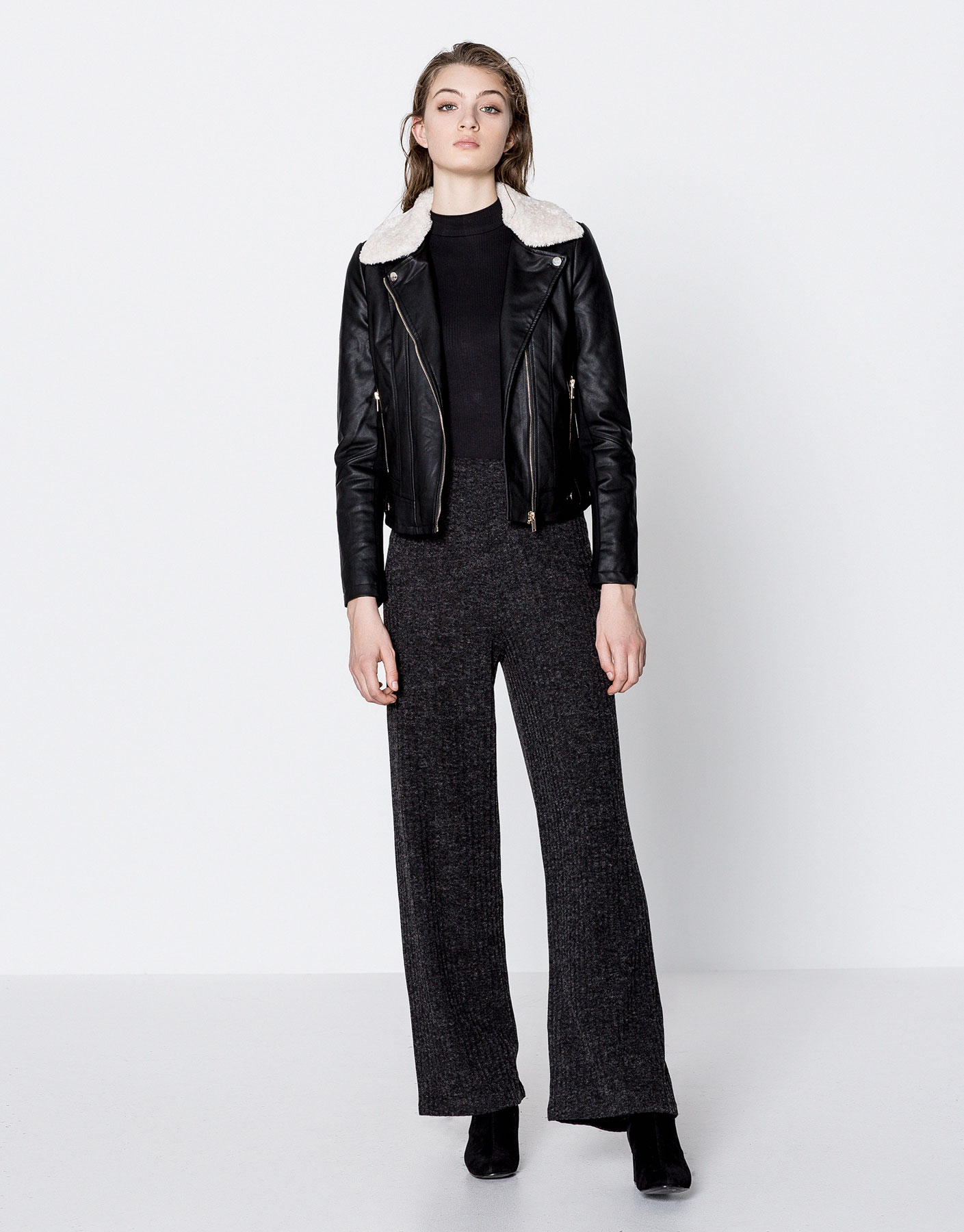 Cutwork palazzo trousers