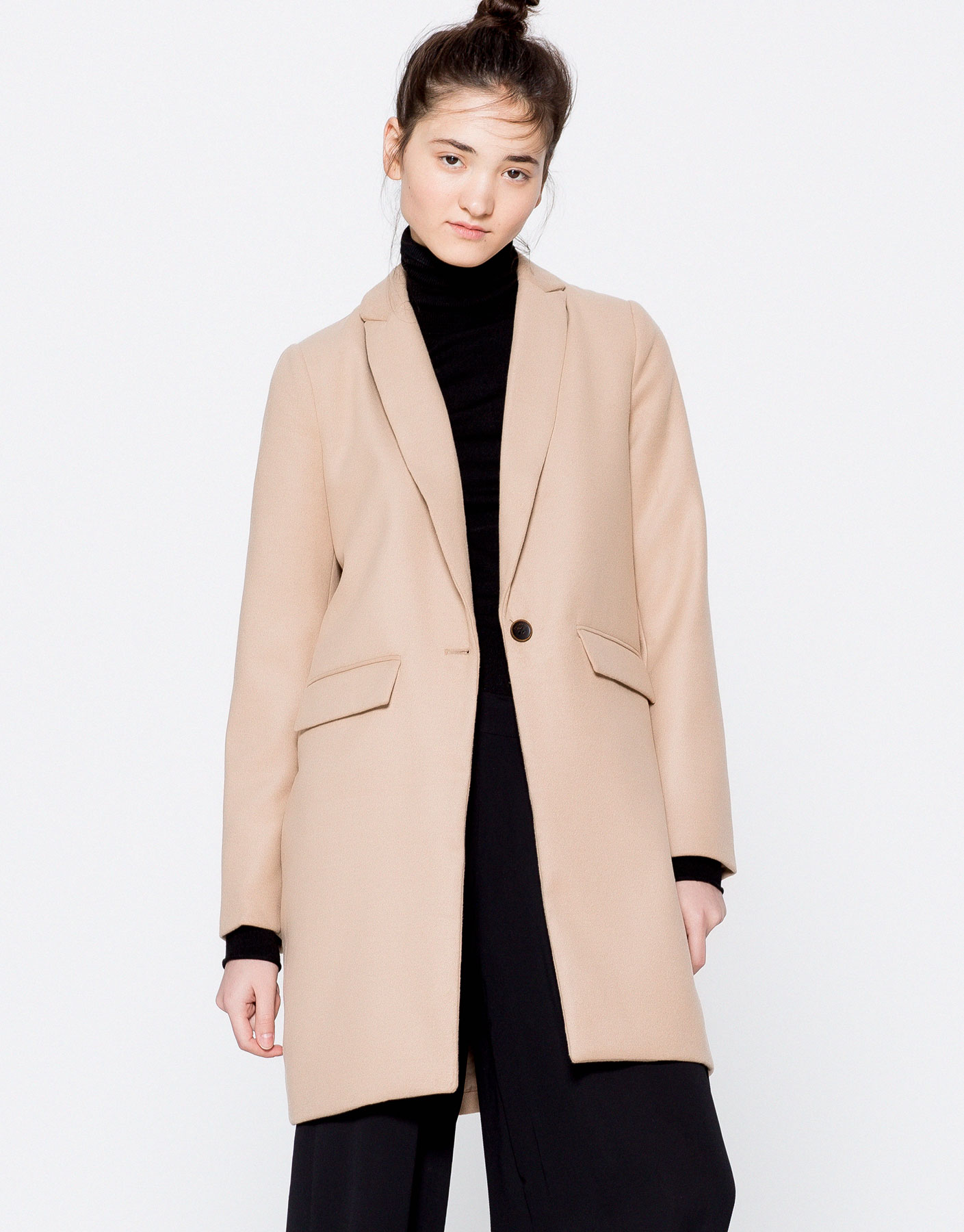 Masculine cut cloth coat