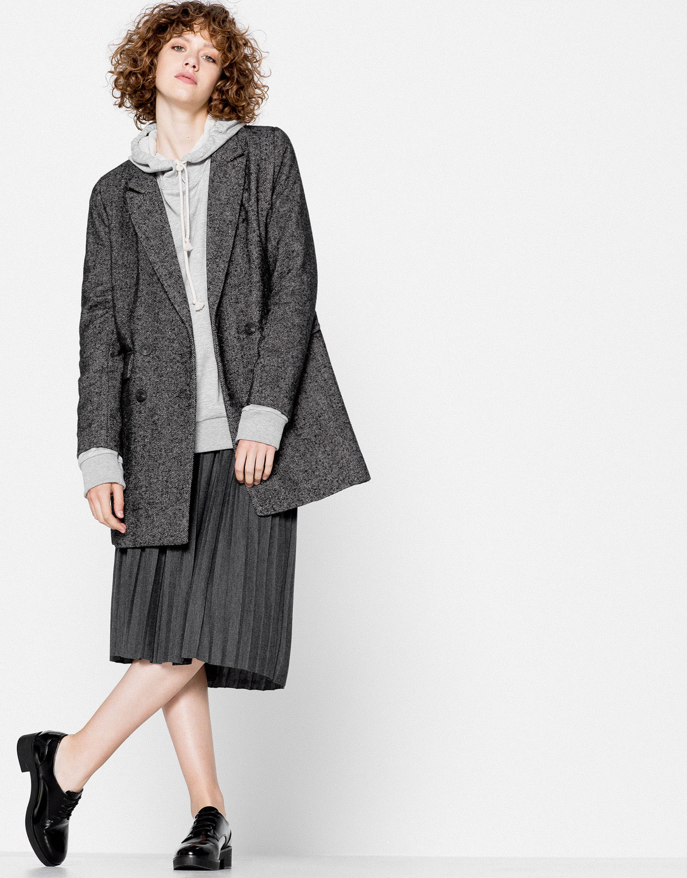 Herringbone Crossover Coat