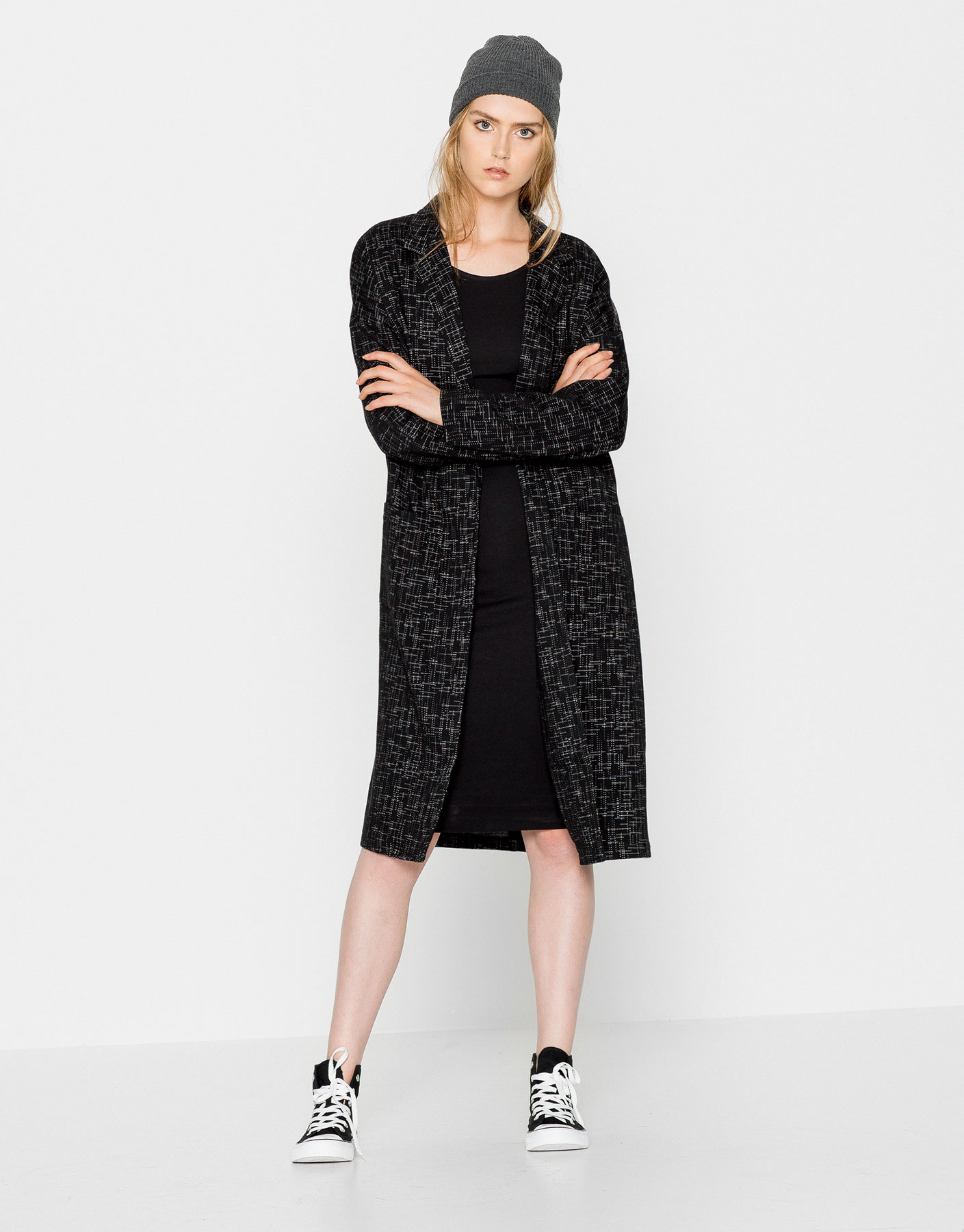 Long textured coat