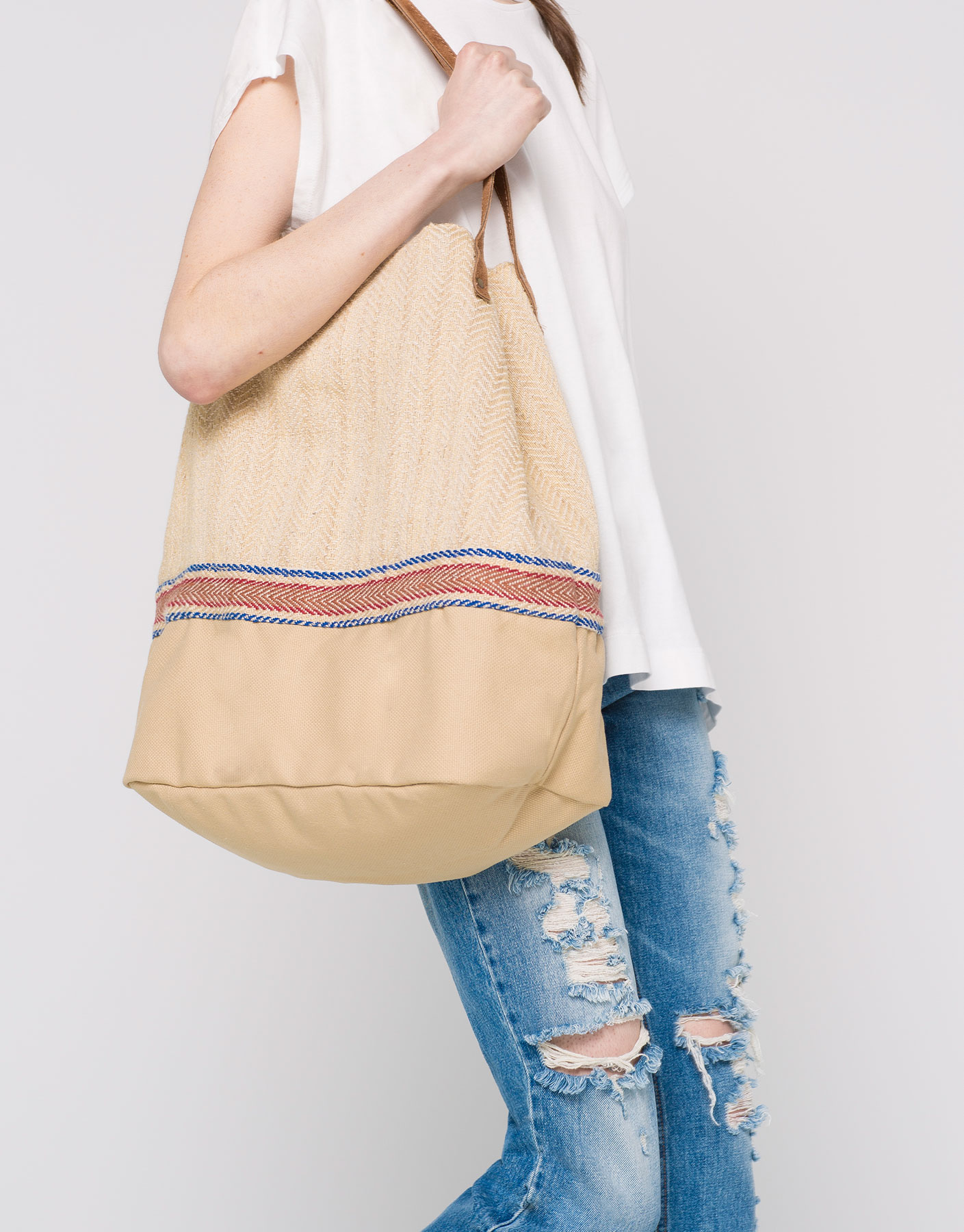 Bolso shopper rejilla