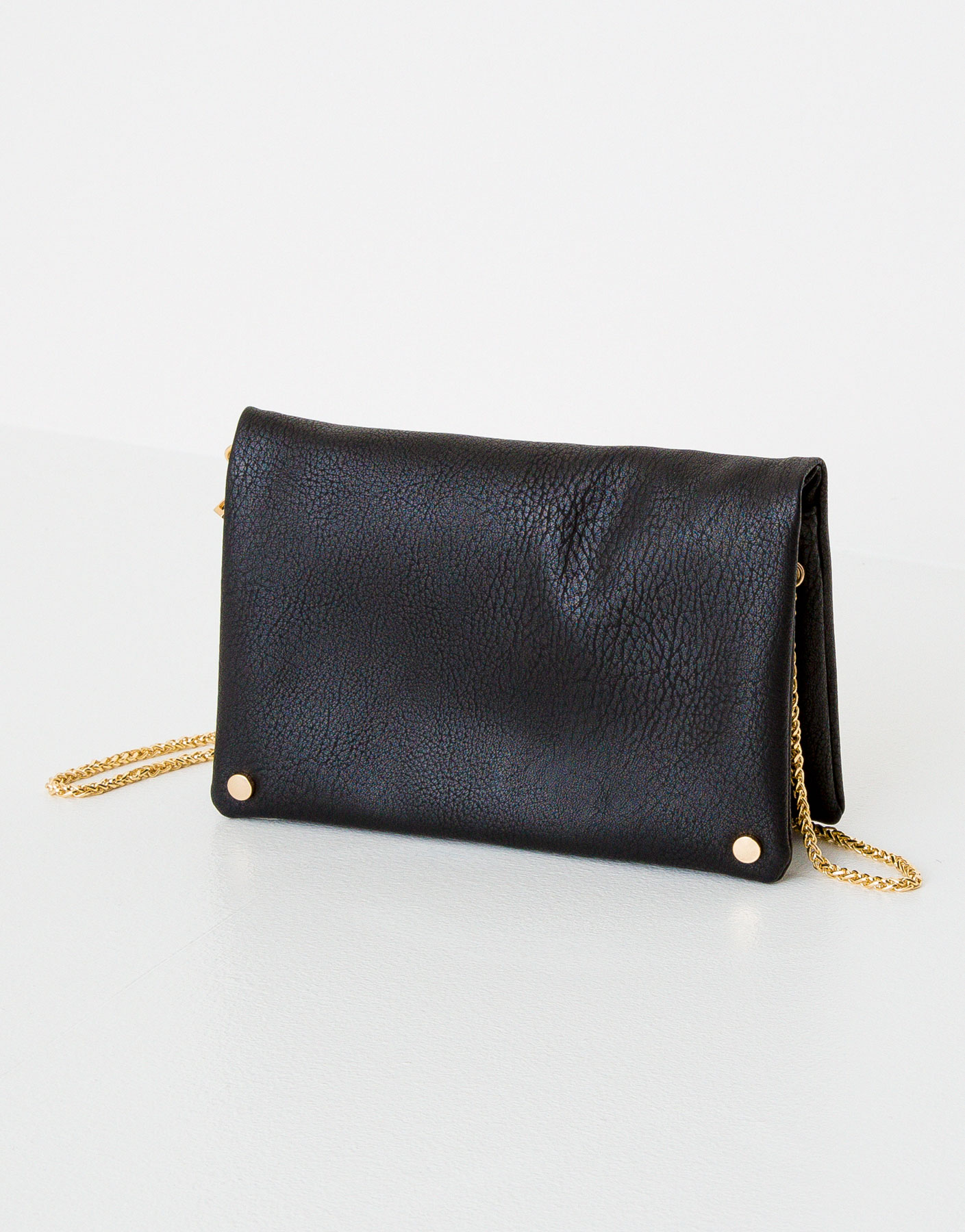 Studded minibag with a chain