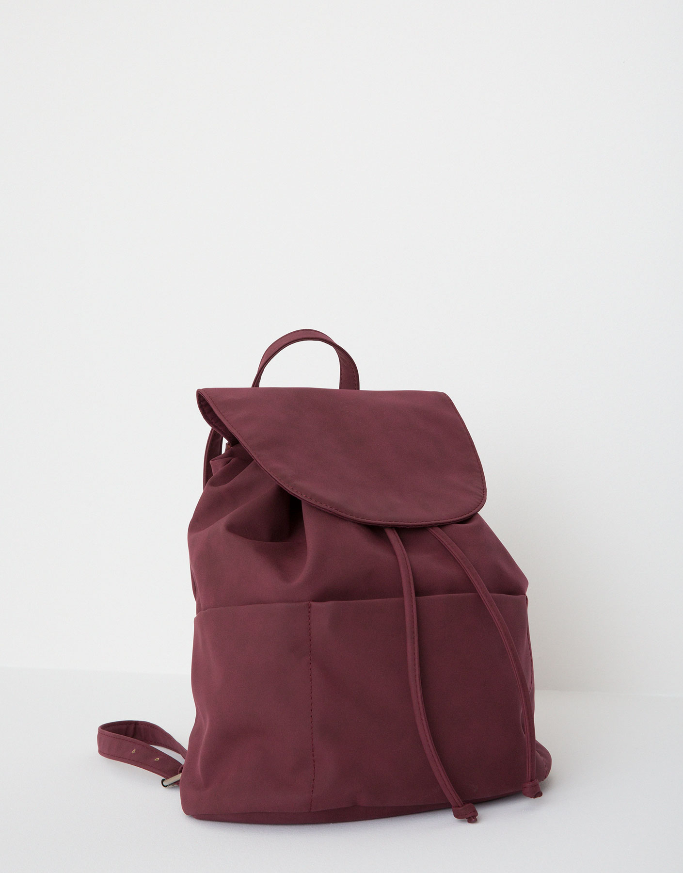 Backpack with a front flap