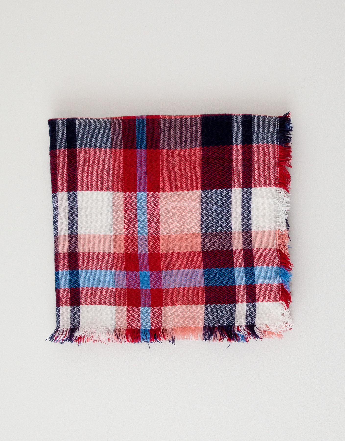 Check foulard scarf