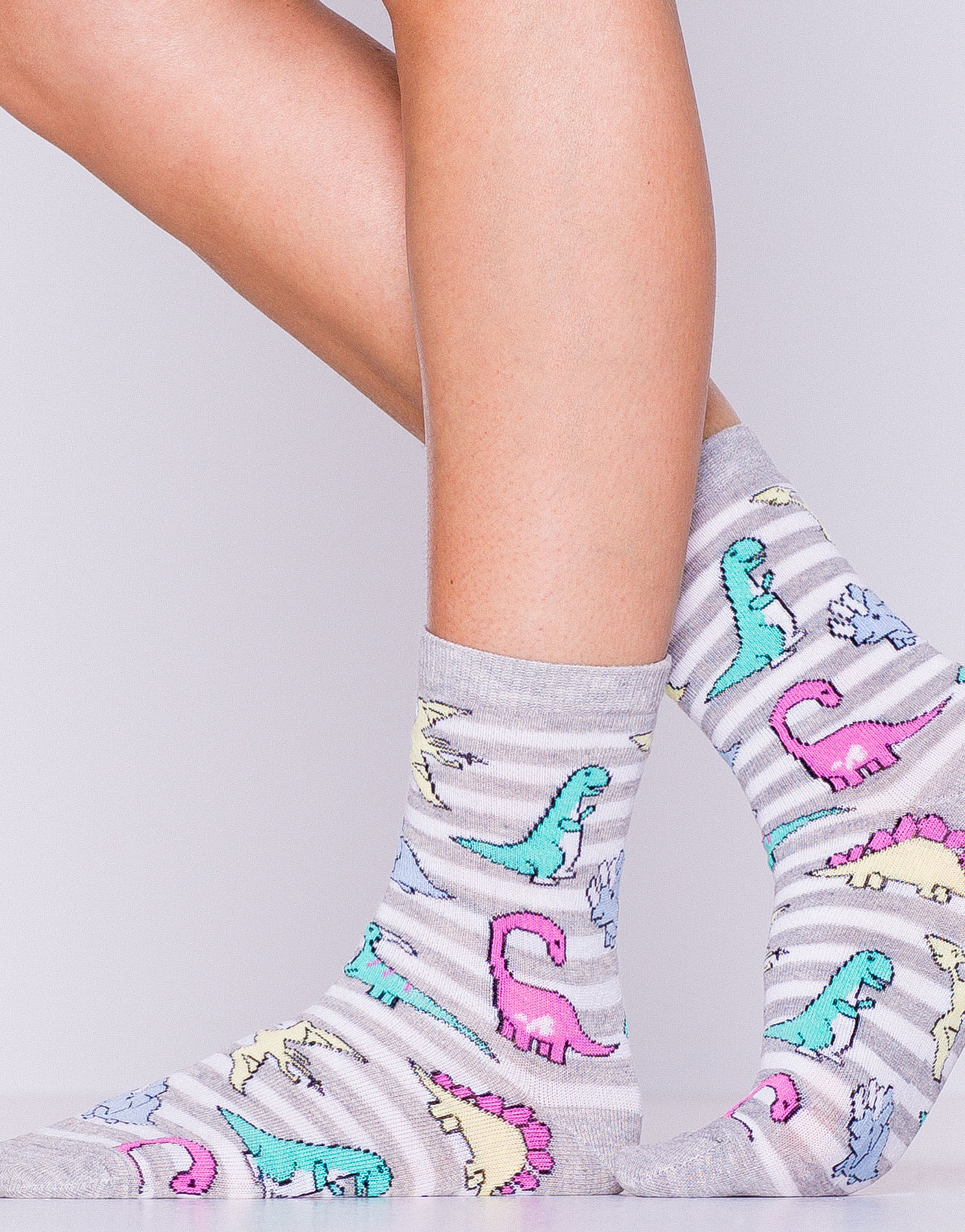 Long dinosaur socks