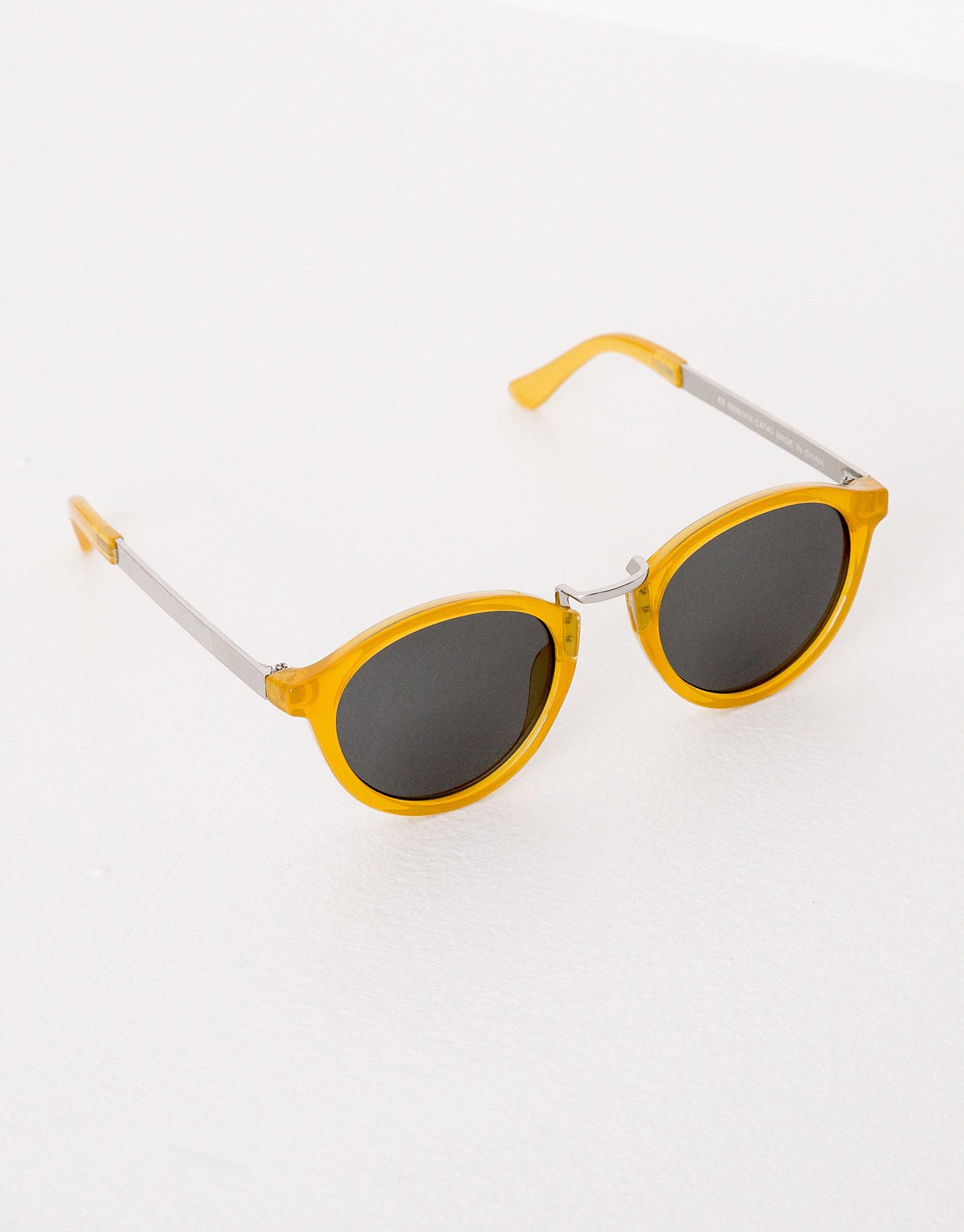 Sonnenbrille mit gelben gestell