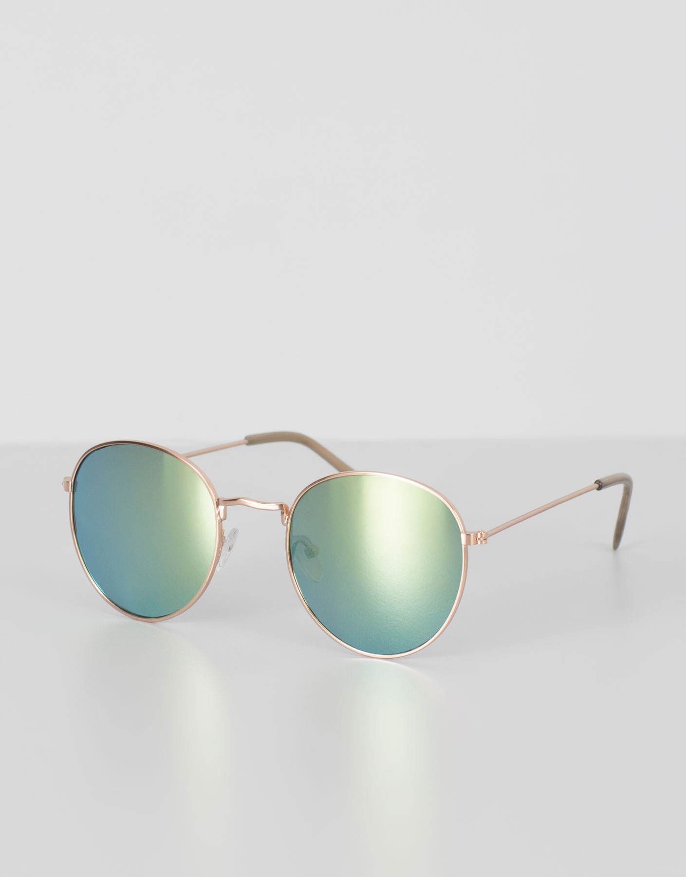 Golden mirrored sunglasses